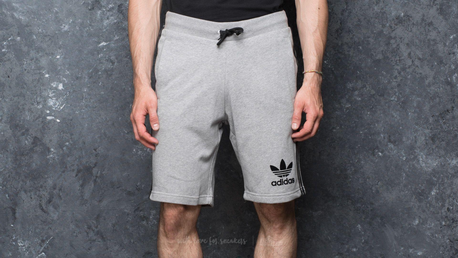 adidas 3 Striped Short Medium Grey Heather - 17546