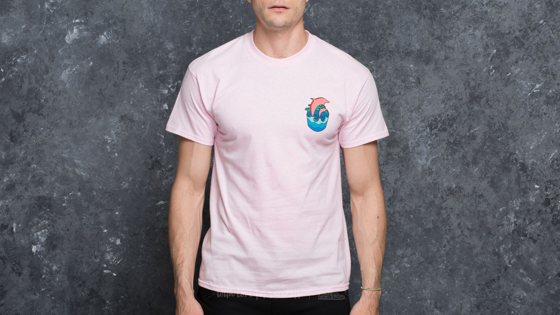 Pink Dolphin Rip Curl Waves Tee Pink - 17104