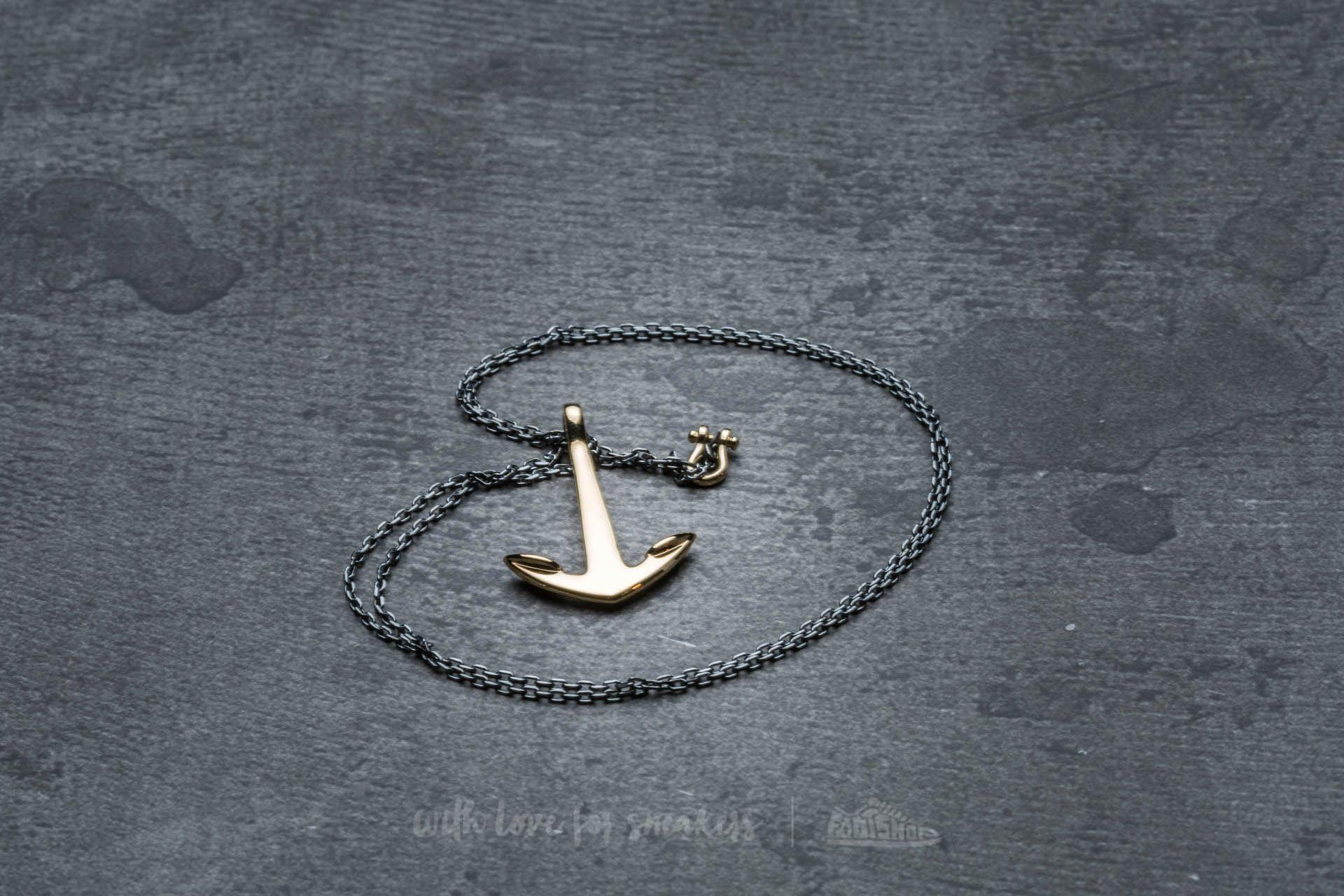 Miansai Anchor Necklace Gold Oxidized - 17924