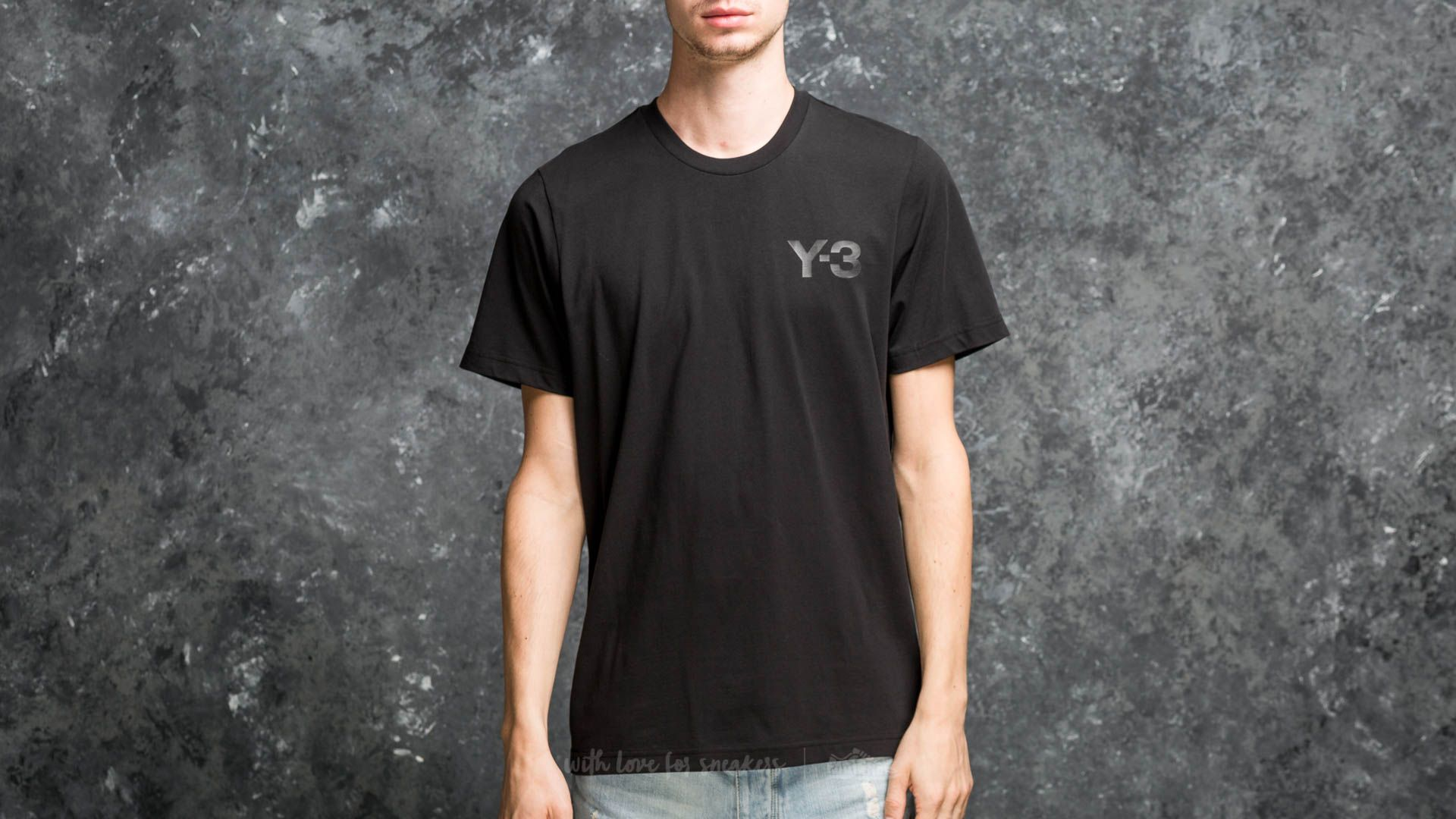 Y-3 M Classic Logo Front Tee Black - 18005