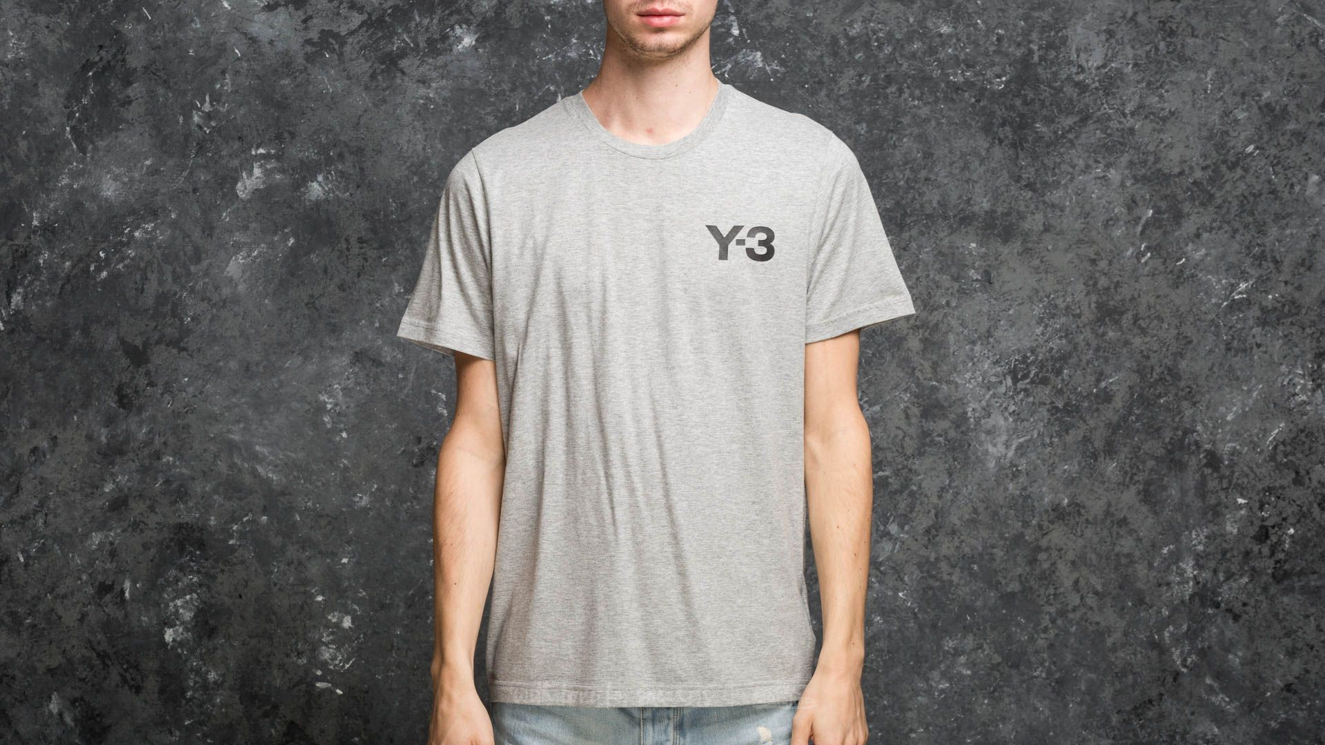 Y-3 M Classic Logo Front Tee Medium Grey Heather - 18009