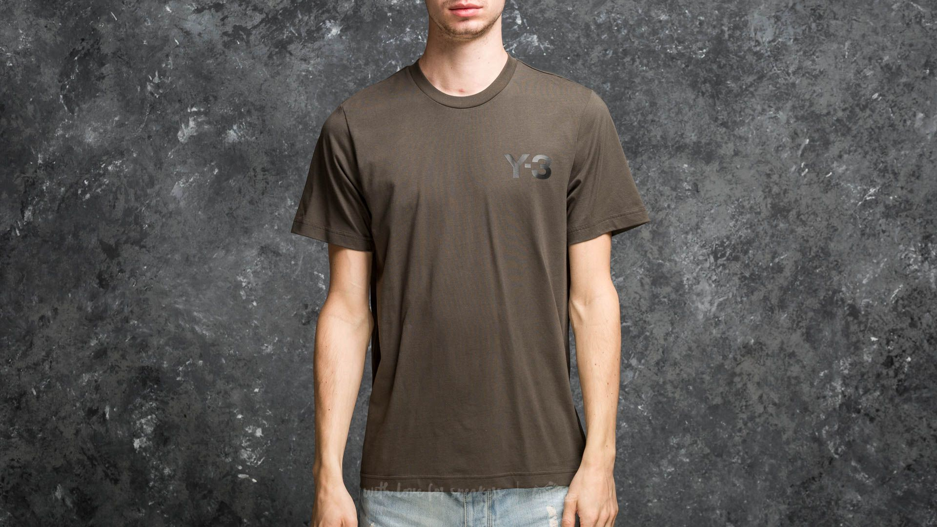 Y-3 M Classic Logo Front Tee Dark Olive - 18008