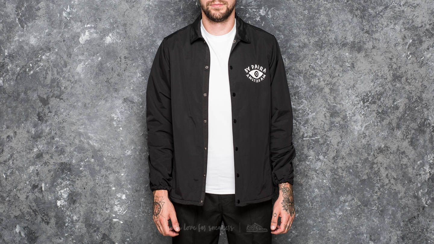 by Parra Twisted Coach Jacket Black - 18739