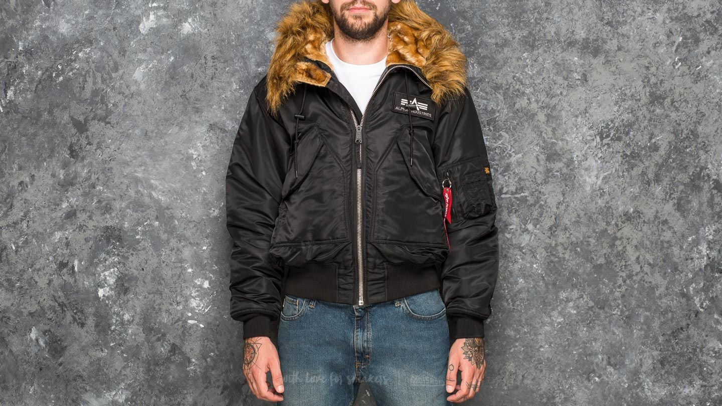 Alpha Industries 45P Hooded Custom Black/ Reflective - 18821