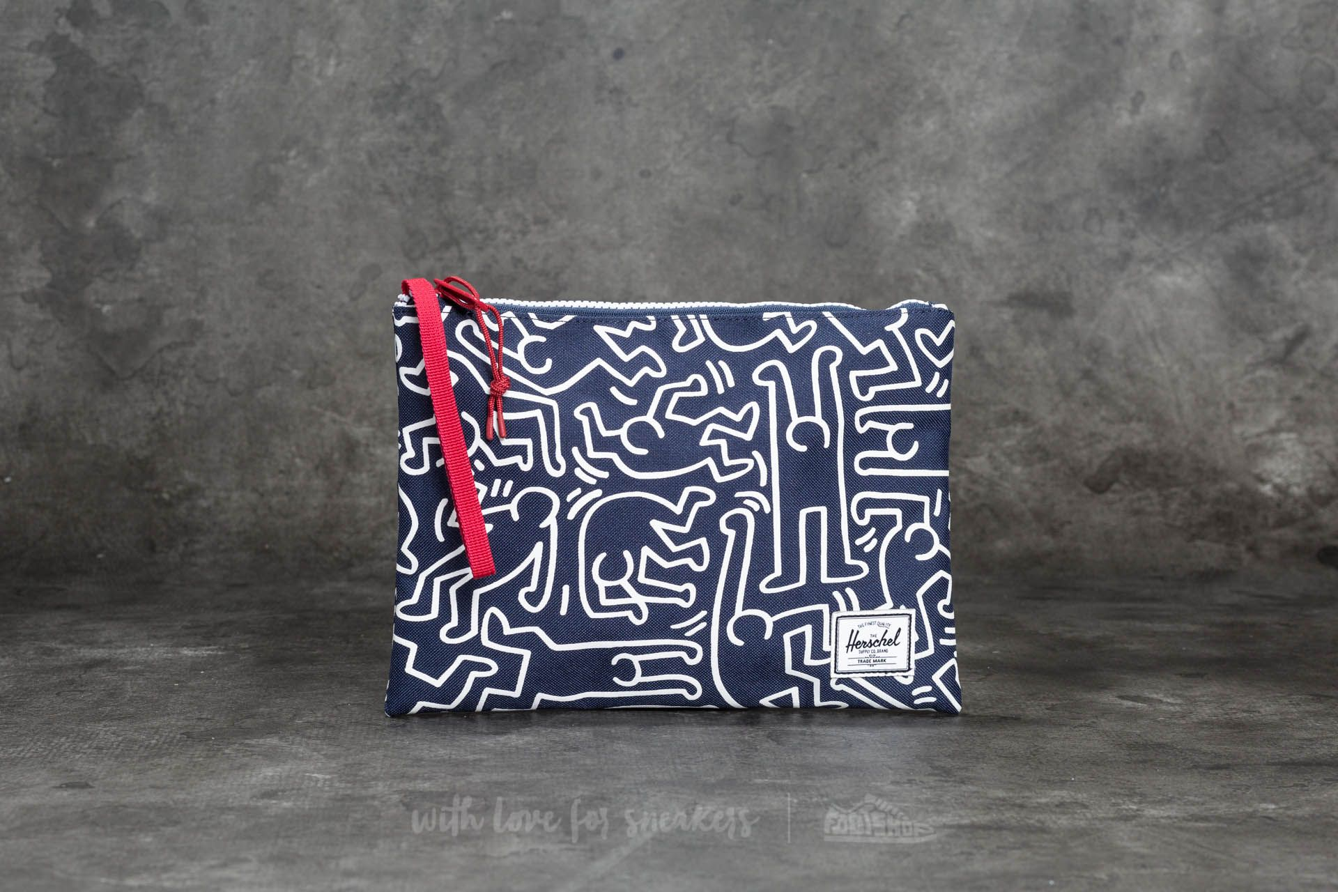 Herschel Supply Co. Network Large Pouch Peacoat Keith Haring - 20090