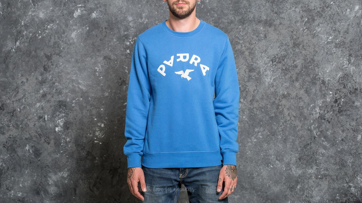 by Parra Arch & Bird Crew Neck Sweater Bright Blue - 20181