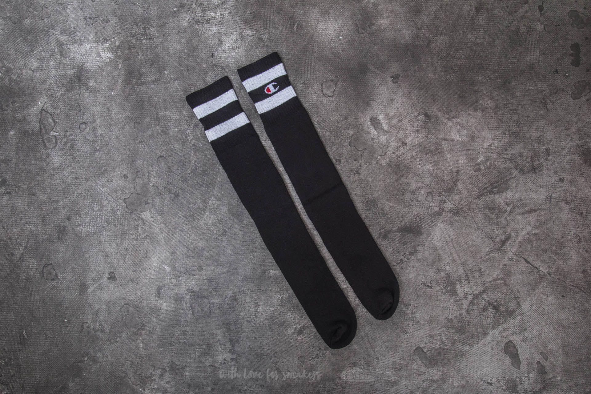 Champion 1 Pair Knee High Socks Black - 20339