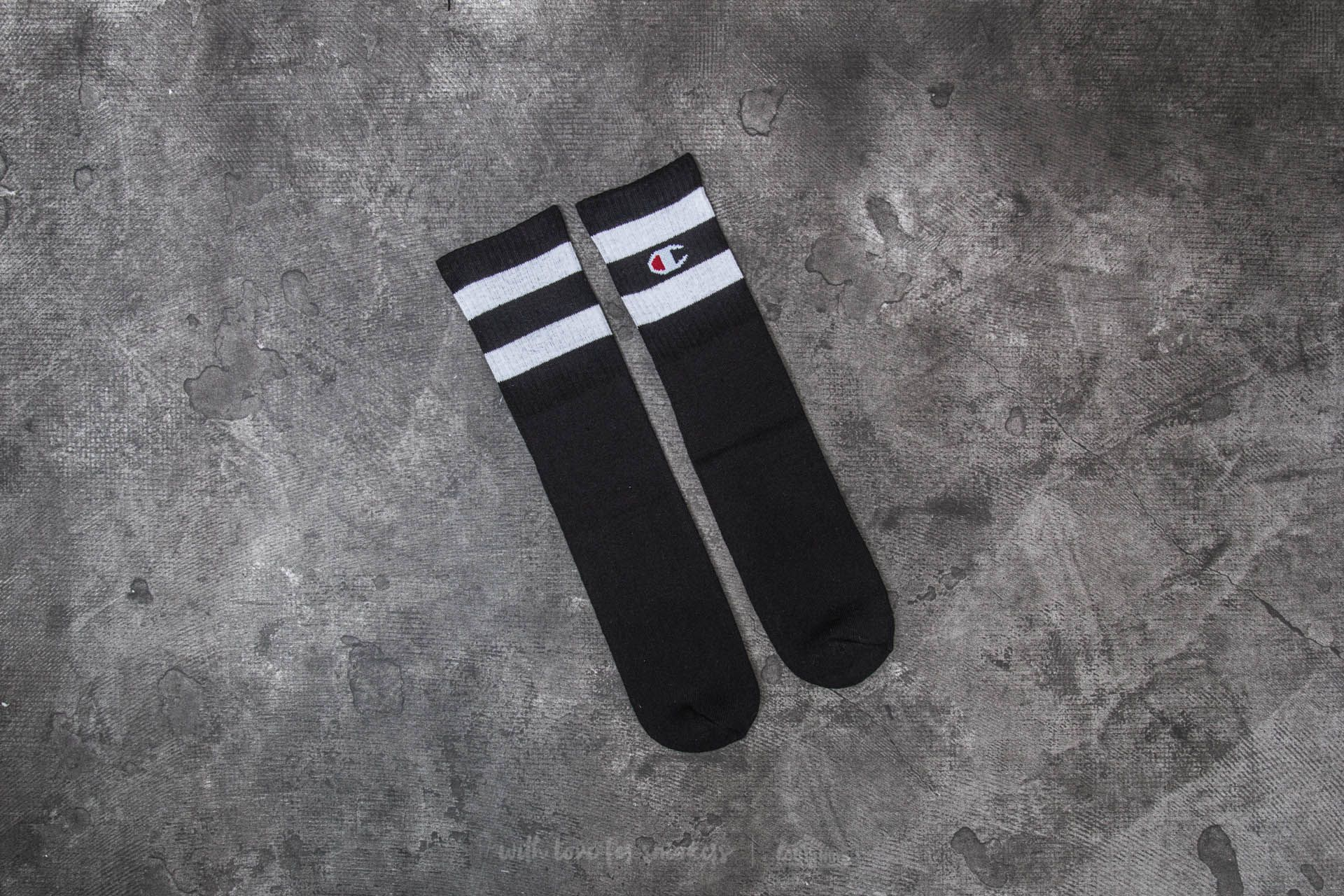 Champion 1 Pair Crew Socks Black - 20342