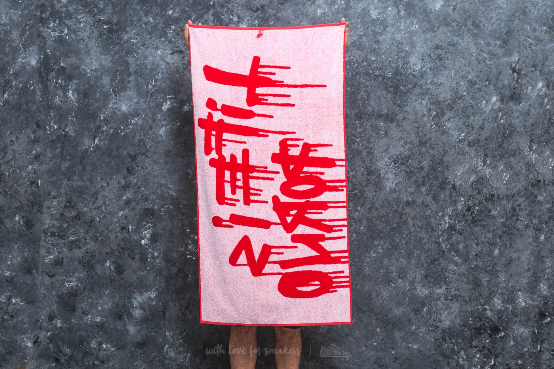 LIFE IS PORNO Flexin Towel 70x140 cm Red - 20253