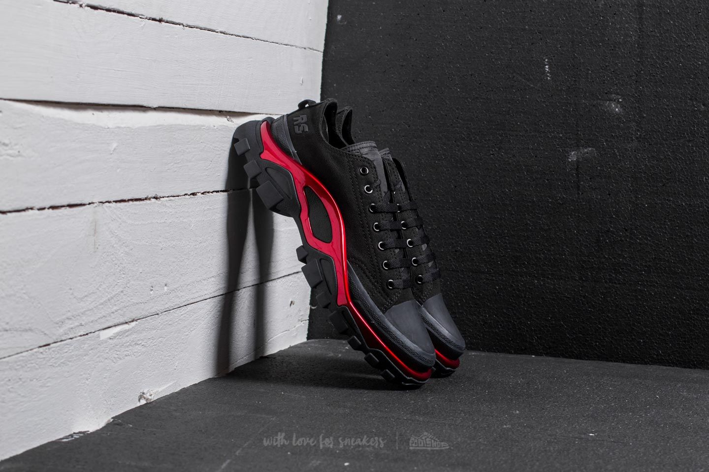 adidas x Raf Simons New Runner Core Black/ Scarlet/ Core Black - 20536