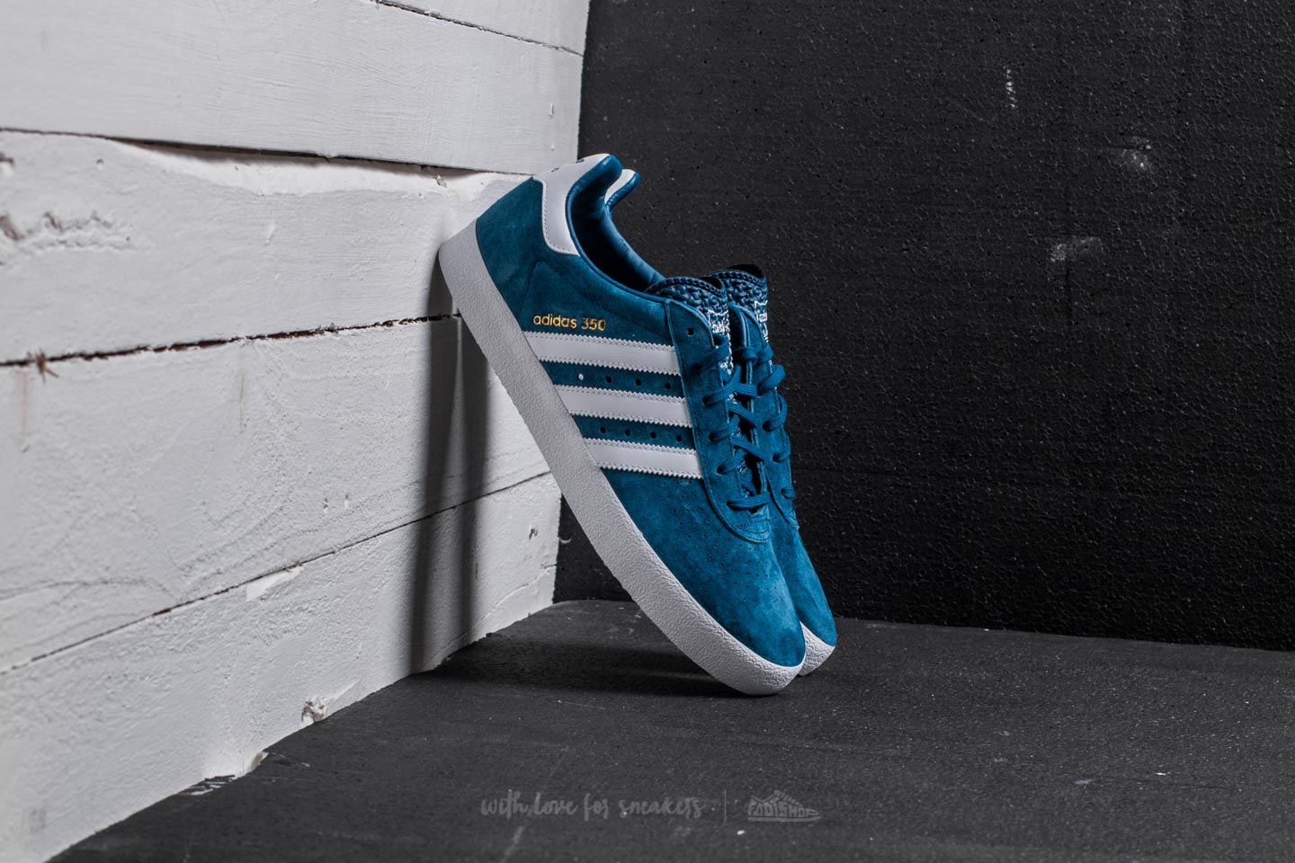 adidas 350 Blue Night/ Ftw White/ Gold Metalic - 20605