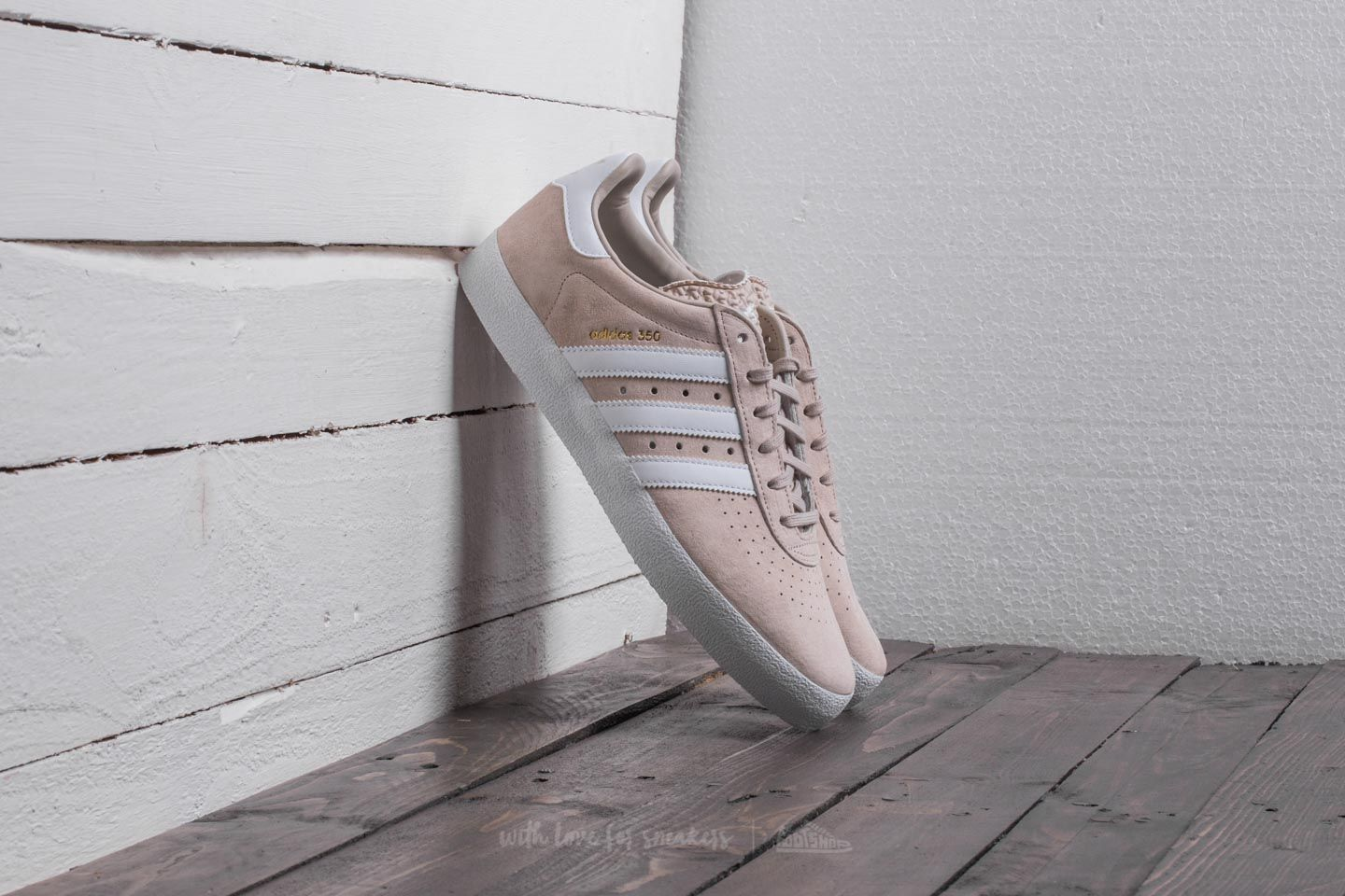 adidas 350 Clear Brown/ Ftw White/ Gold Metallic - 20614