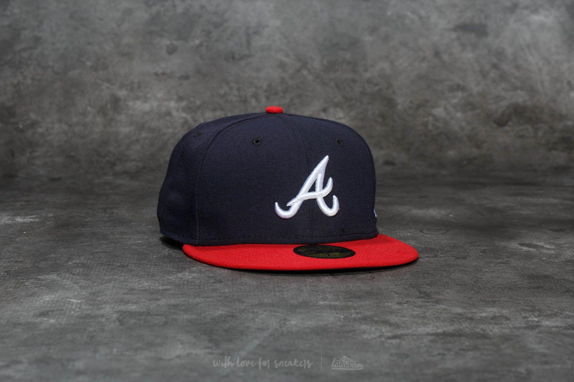 New Era 59Fifty Acperf Atlanta Braves Cap Navy - 20702