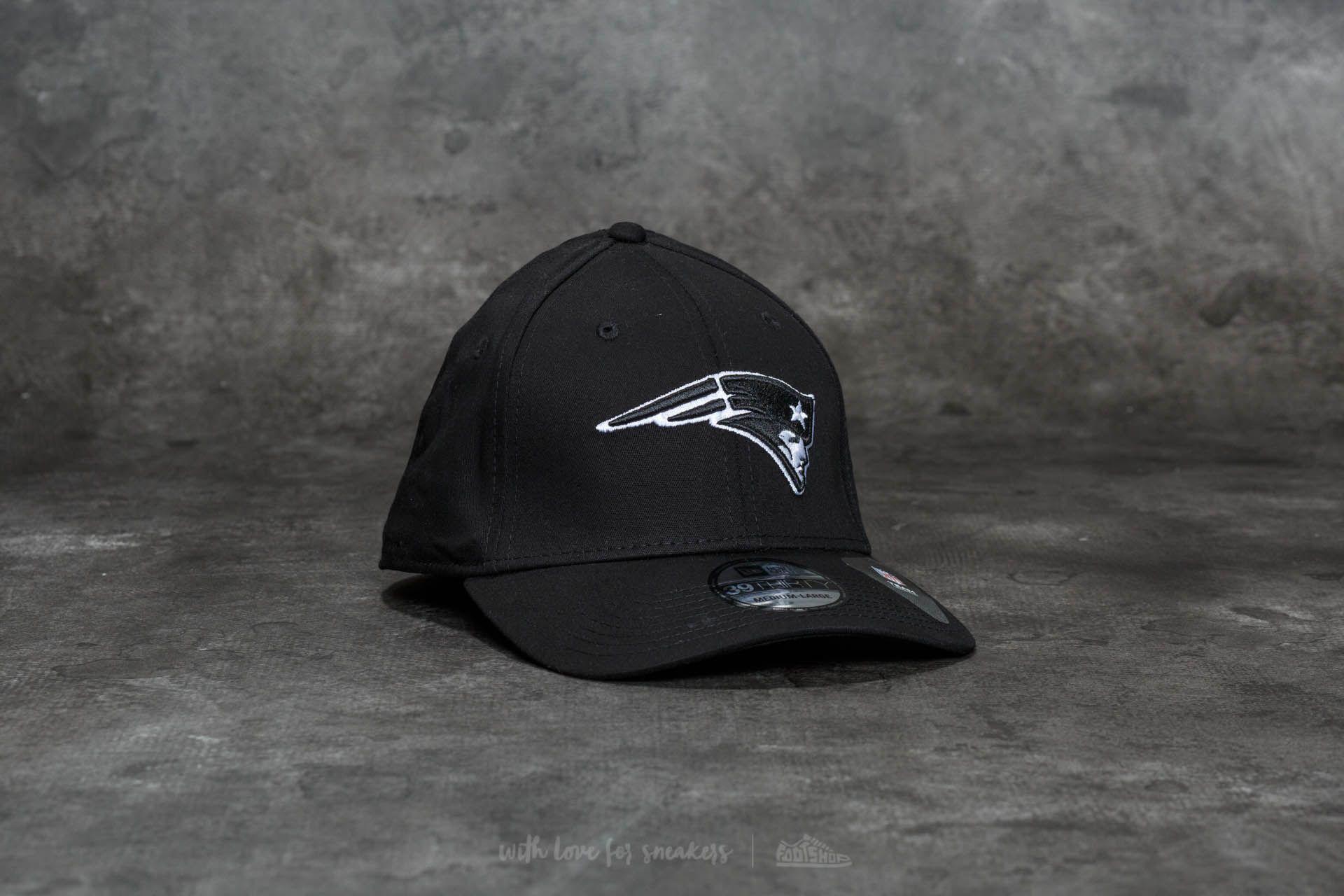 New Era 39Thirty Monochrome New England Patriots Cap Black - 20692