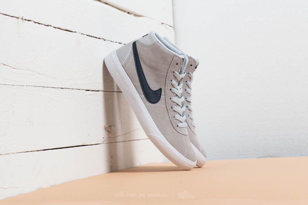 Nike Wmns SB Bruin HI Pure Platinum/ Obsidian-White - 21528