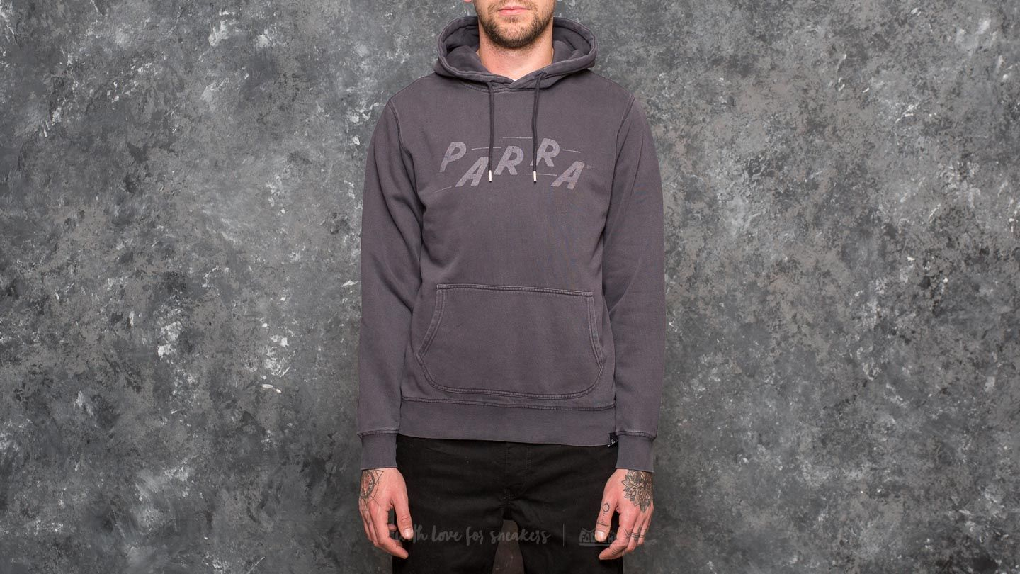 by Parra Racing Hooded Sweater Overdyed Black - 21534