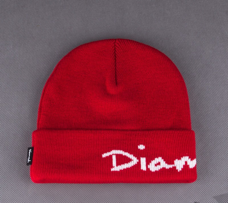 Diamond OG Script Beanie Red - 2273