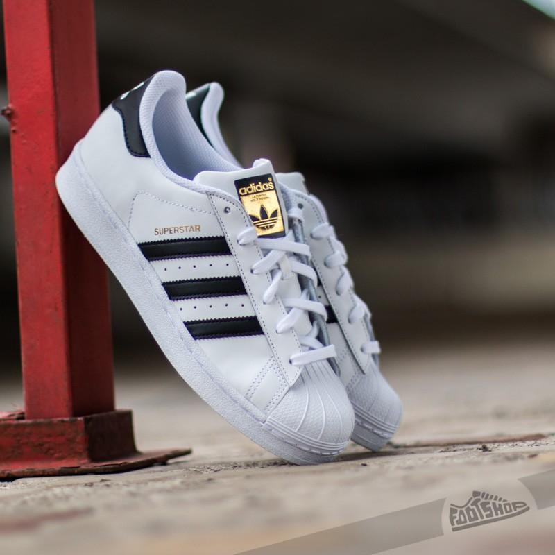 adidas Superstar J White/ Black Stripes - 2403