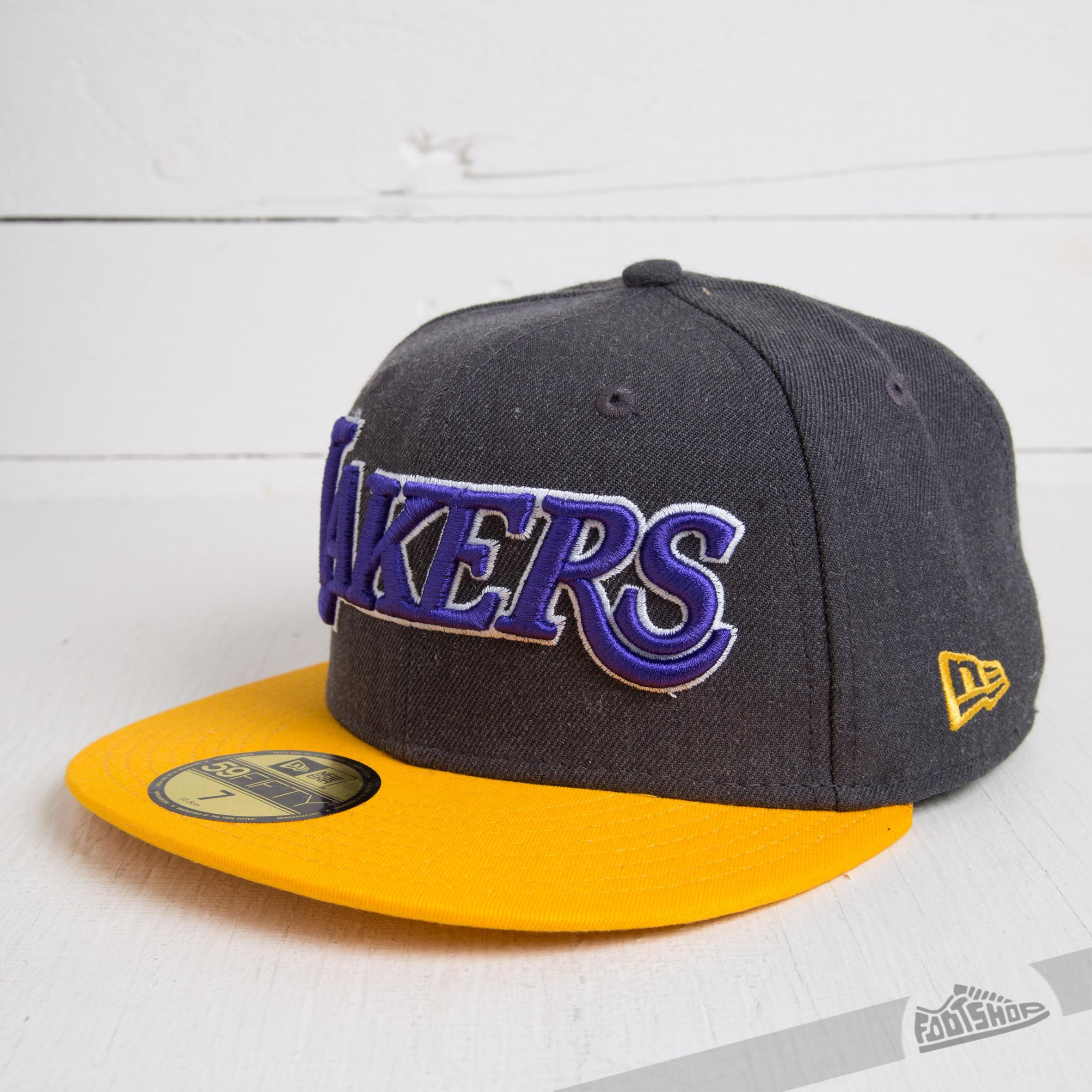 New Era 59FIFTY Heather Ball LA Lakers Grey/Yellow - 3266