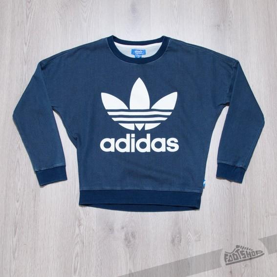 adidas Track Denim Sweatshirt Medium Blue Denim - 6440