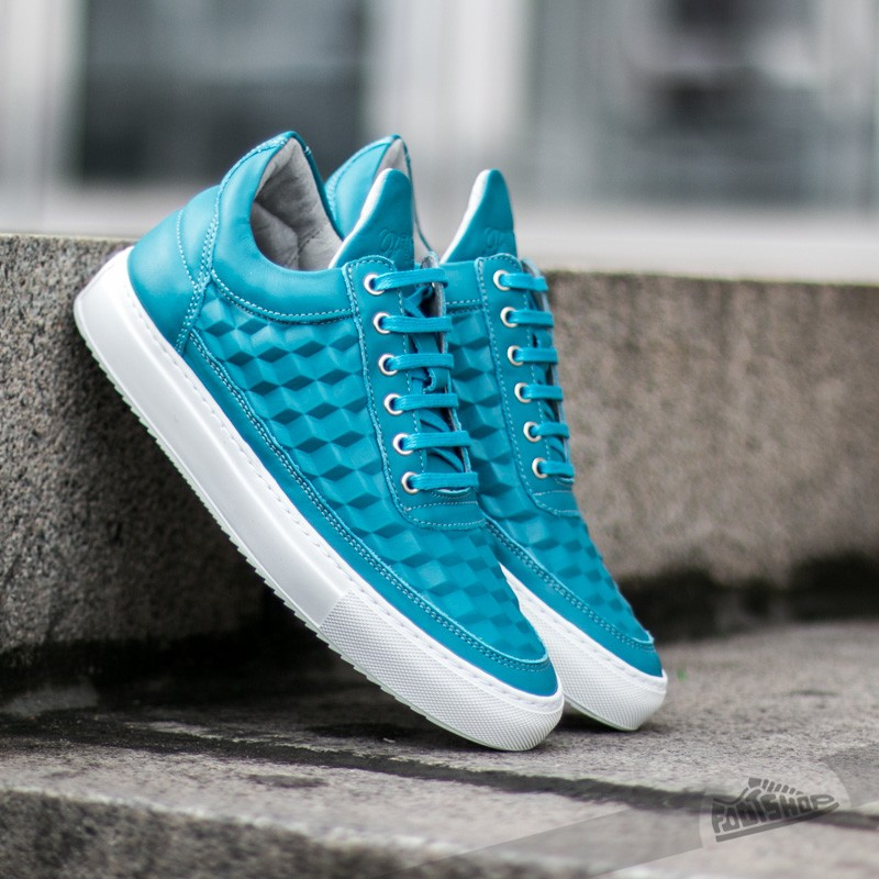 Filling Pieces Low Top 3D Cubic Turquoise - 7213