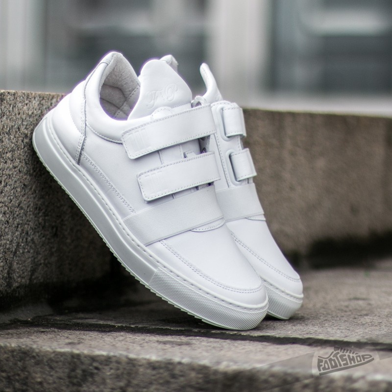 Filling Pieces Low Top Double Strap All White - 7201