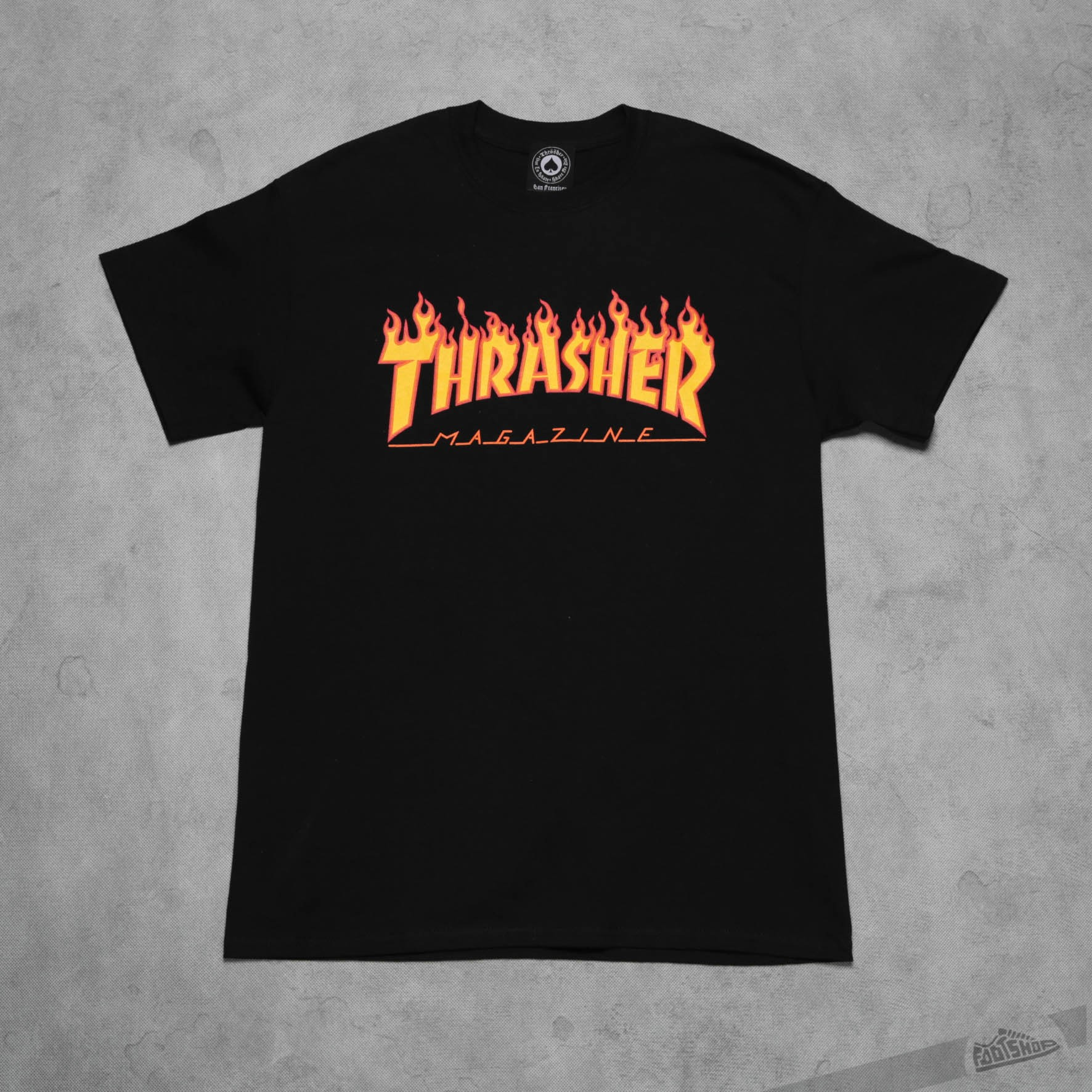 Thrasher Flame Logo T-Shirt Black - 7691