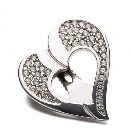 Shoeclipper Glittery Love Silver - 8433