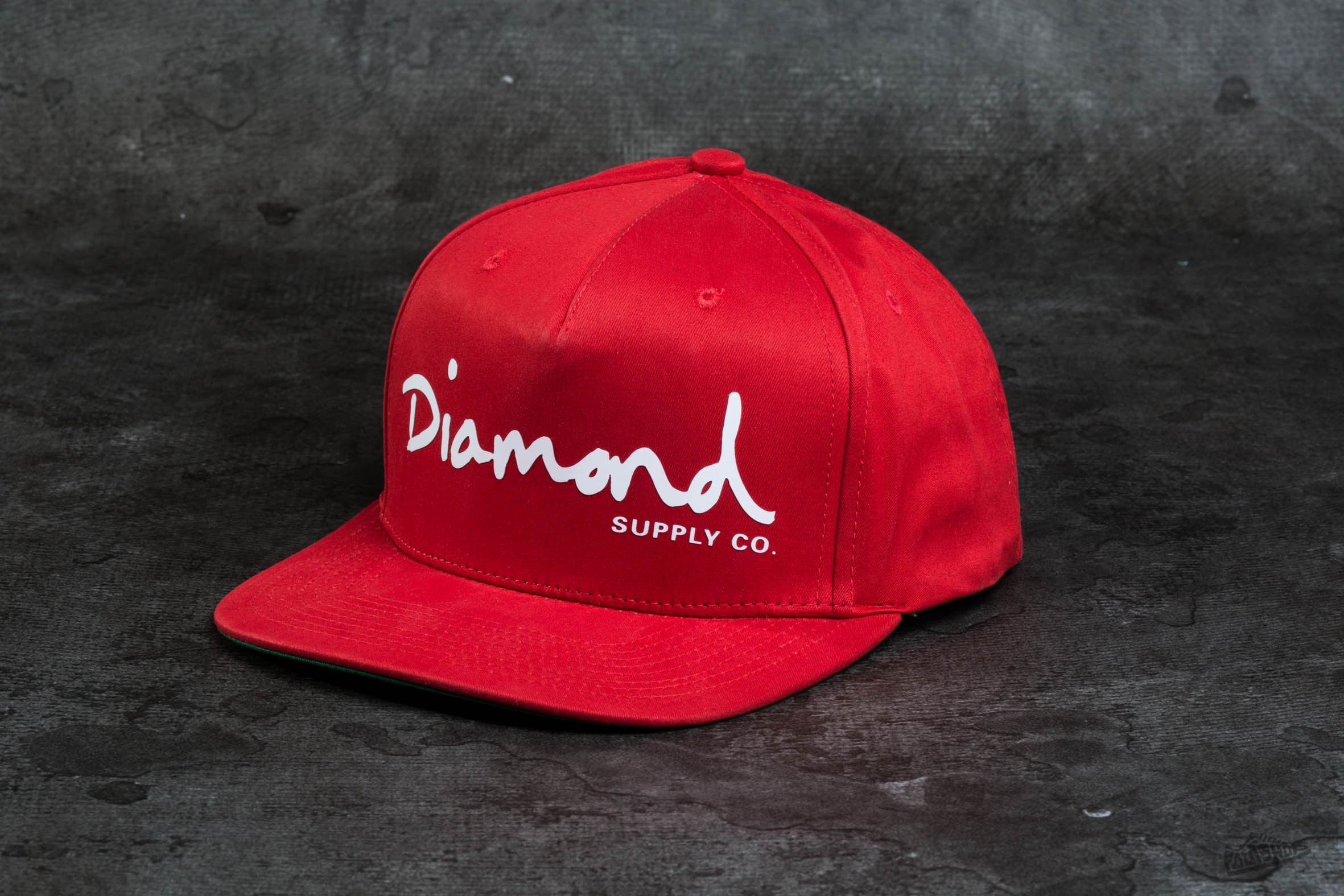 Diamond Supply Co. OG Script Snapback Red - 9362