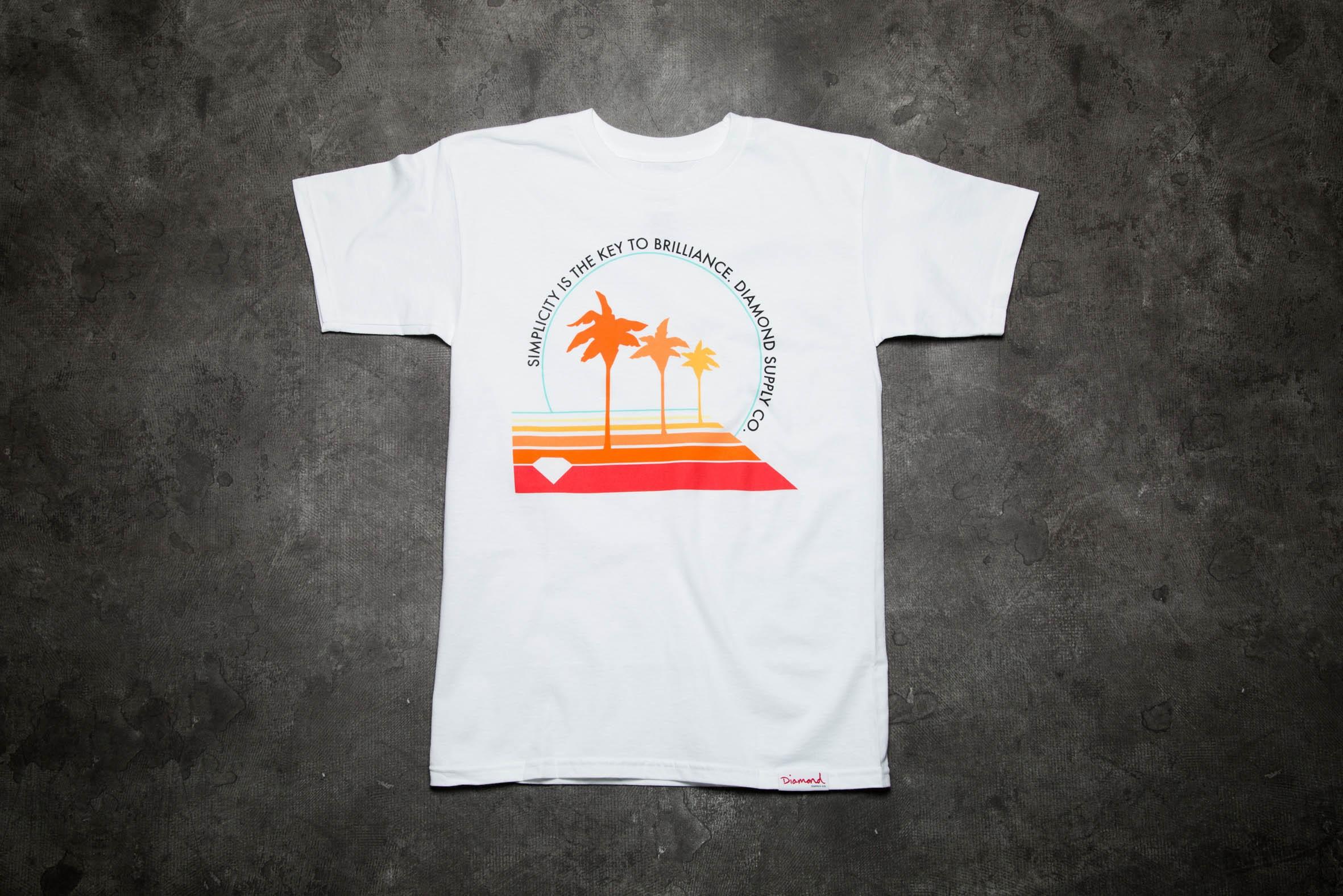 Diamond Supply Co. Palm Vibes Tee White - 9377