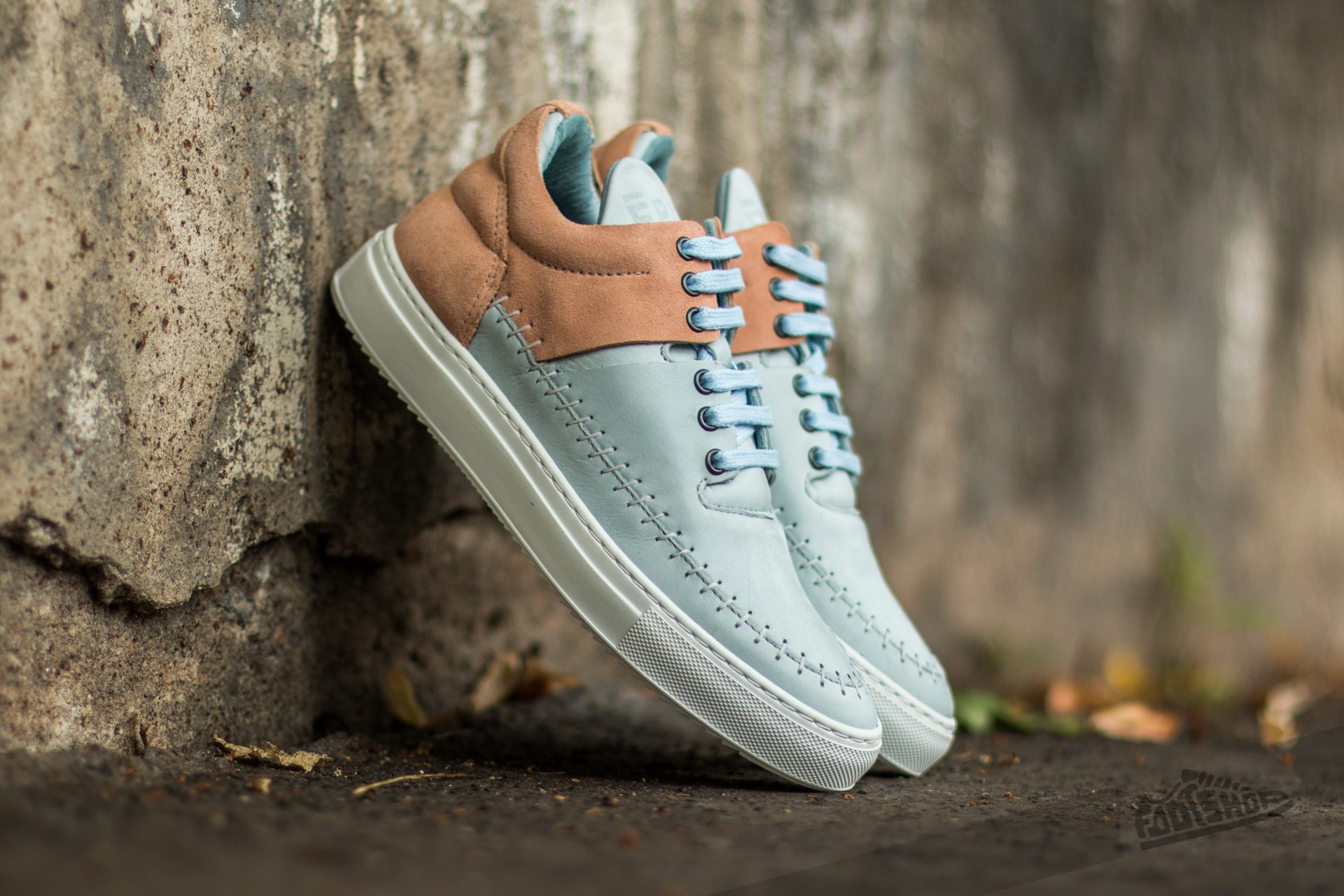 Filling Pieces Low Top Doble Nude/ Baby Blue - 9540