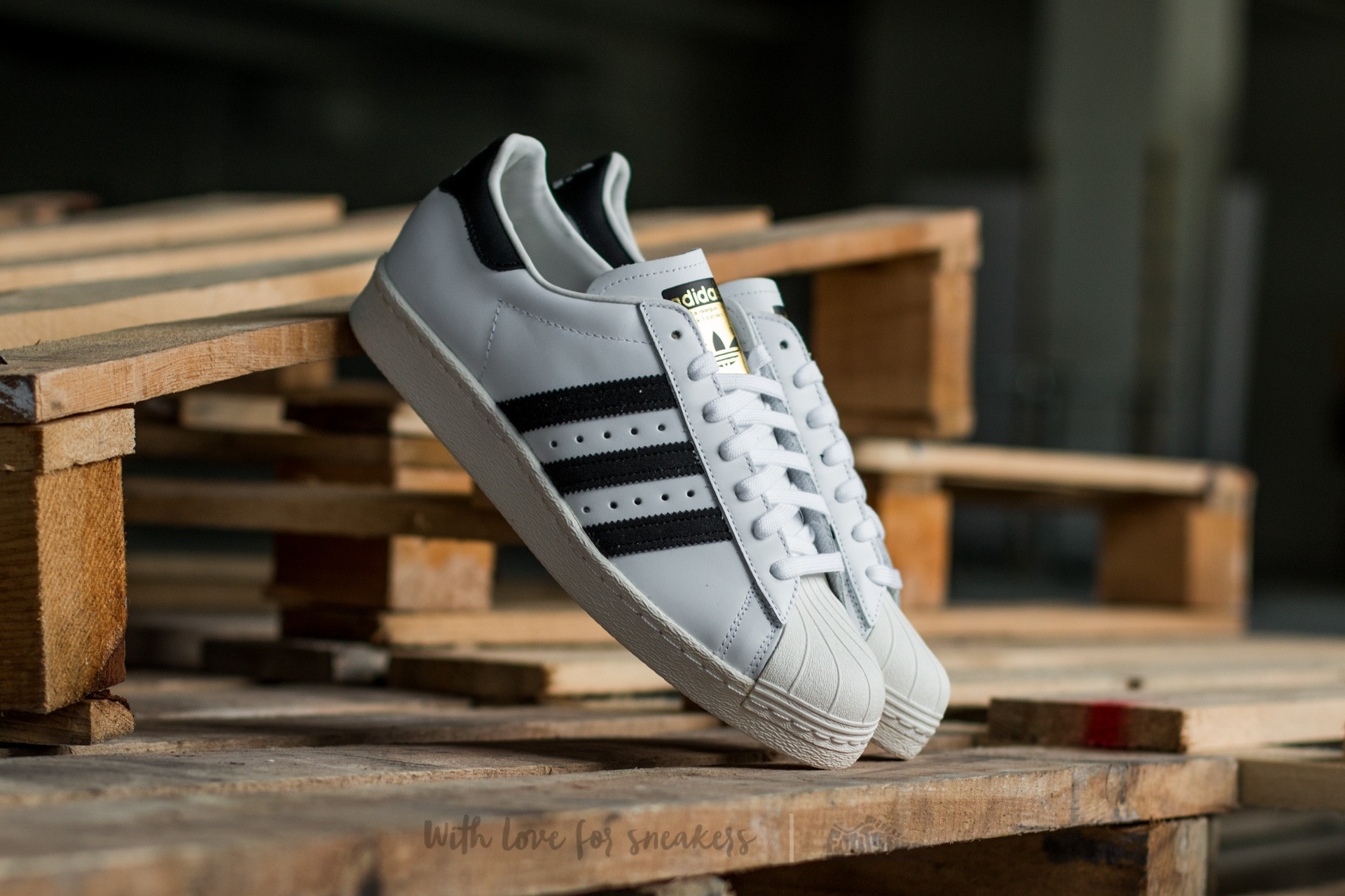 adidas Superstar 80s White/Black1/Chalk2 - 1327
