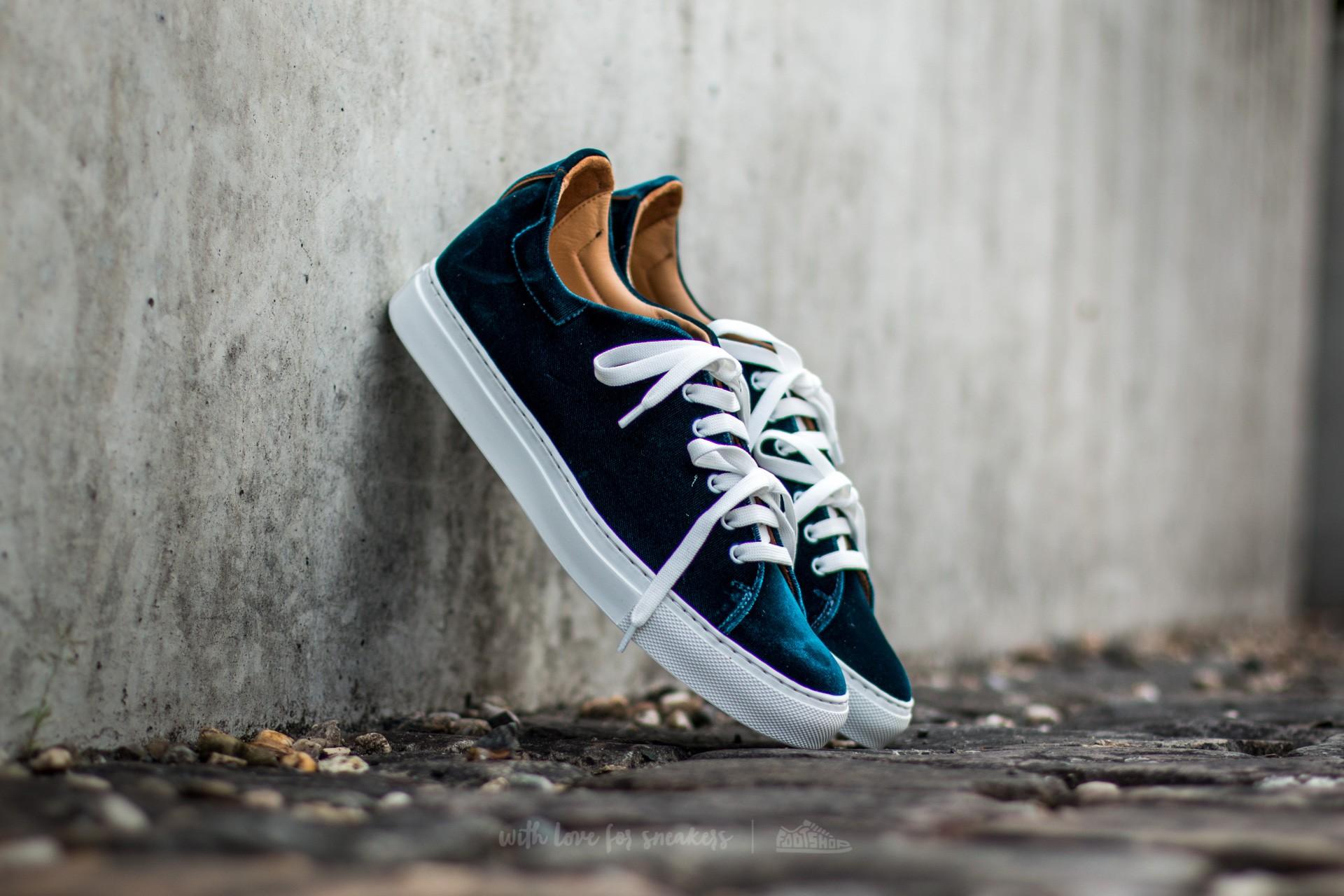 Marco Laganà Sneaker Velvet Green-White Sole - 10087
