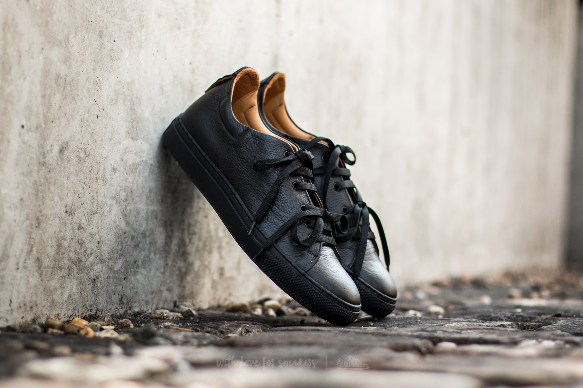 Marco Laganà Sneaker Leather Black-Black Sole - 10090
