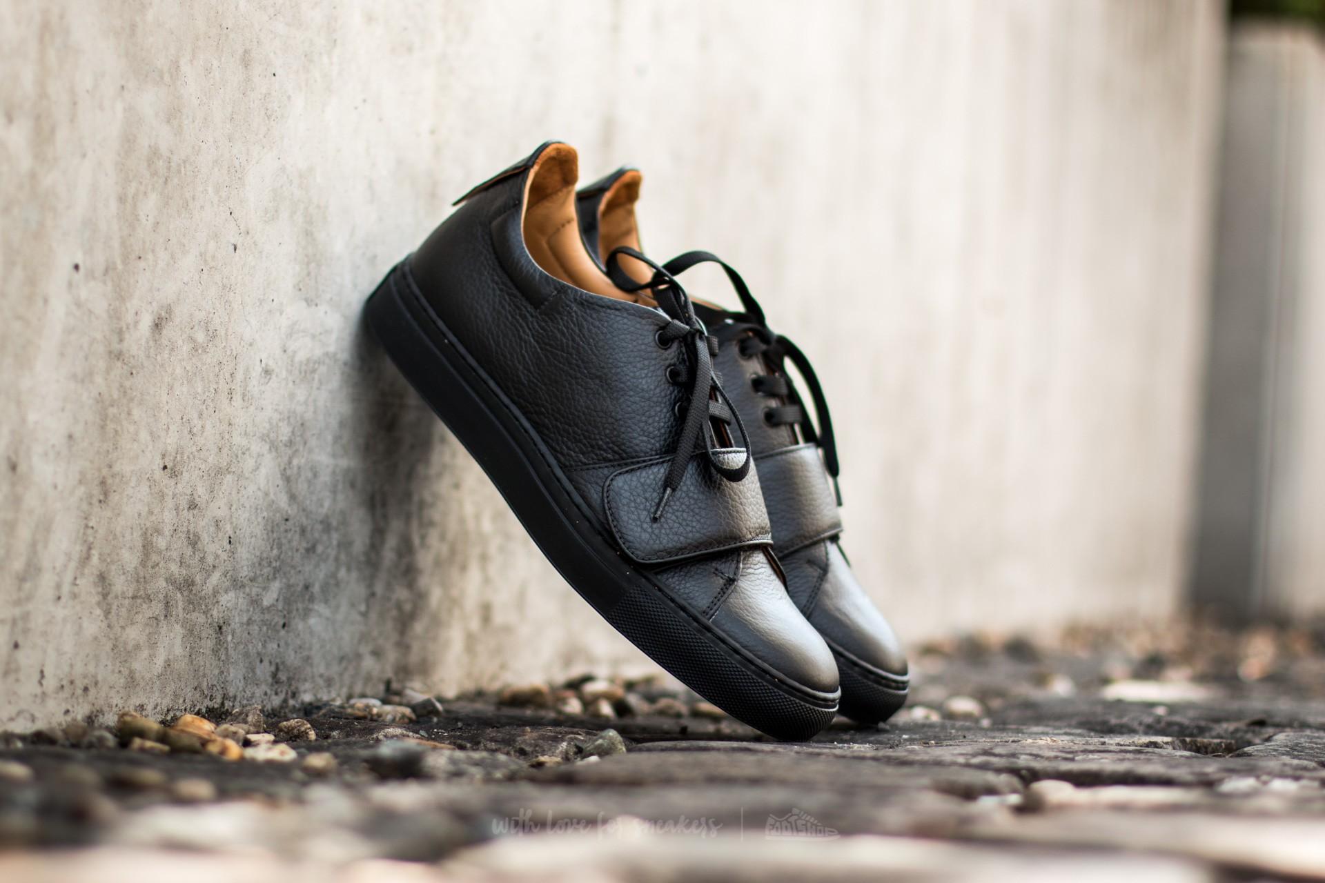 Marco Laganà Sneaker Strap Black Leather - Black Sole - 10099