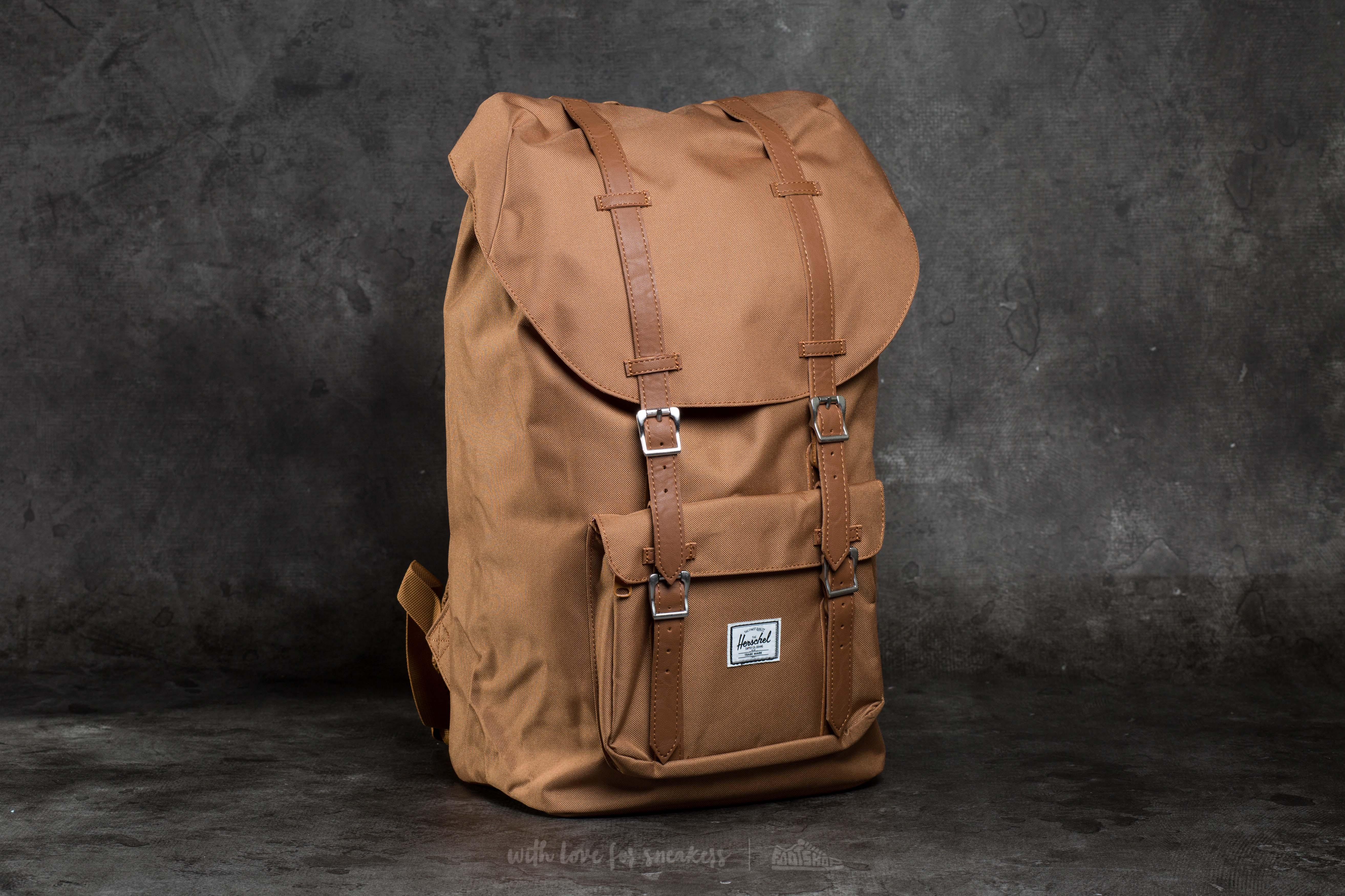 Herschel Supply Co. Little America Backpack Caramel/ Tan Synthetic Leather - 10057