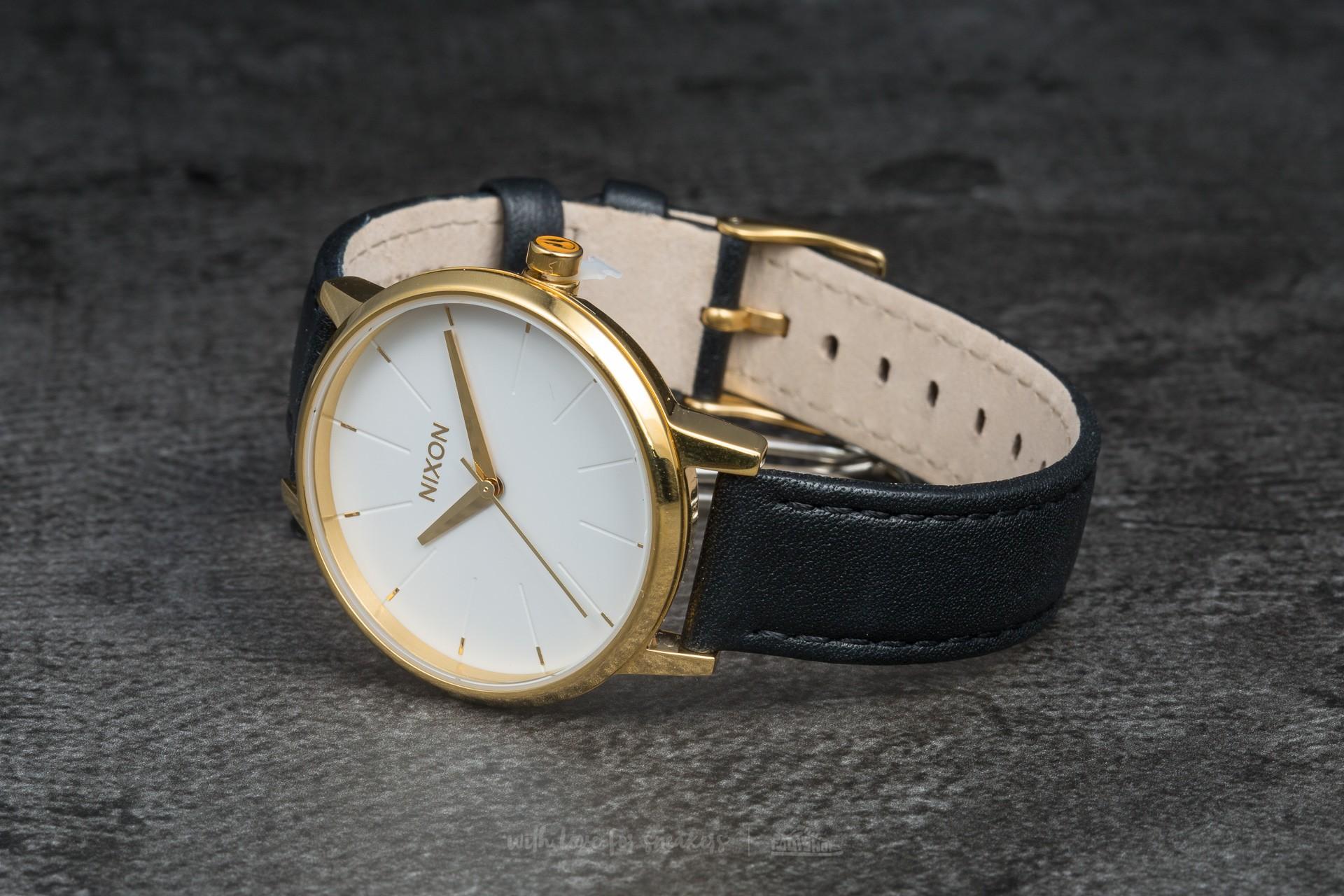 Nixon Kensington Leather Gold/ White/ Black - 5858