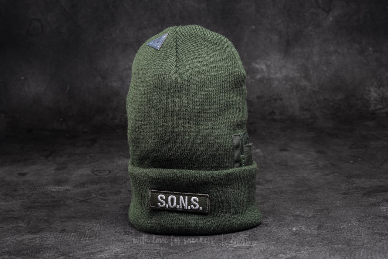 Cayler & Sons BL Flight Old School Beanie Olive - 10794