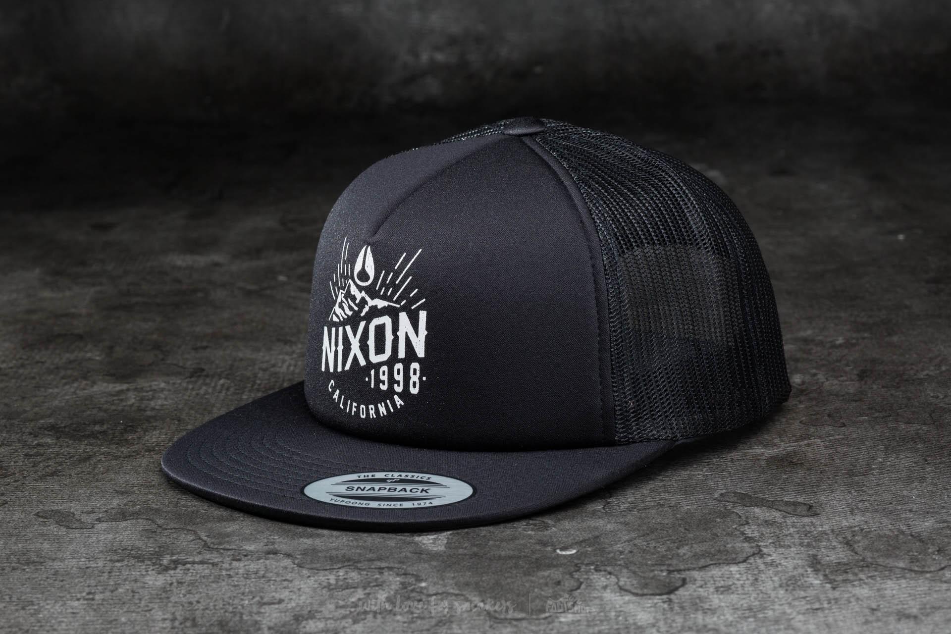 Nixon Ridge Trucker Hat All Black - 10981