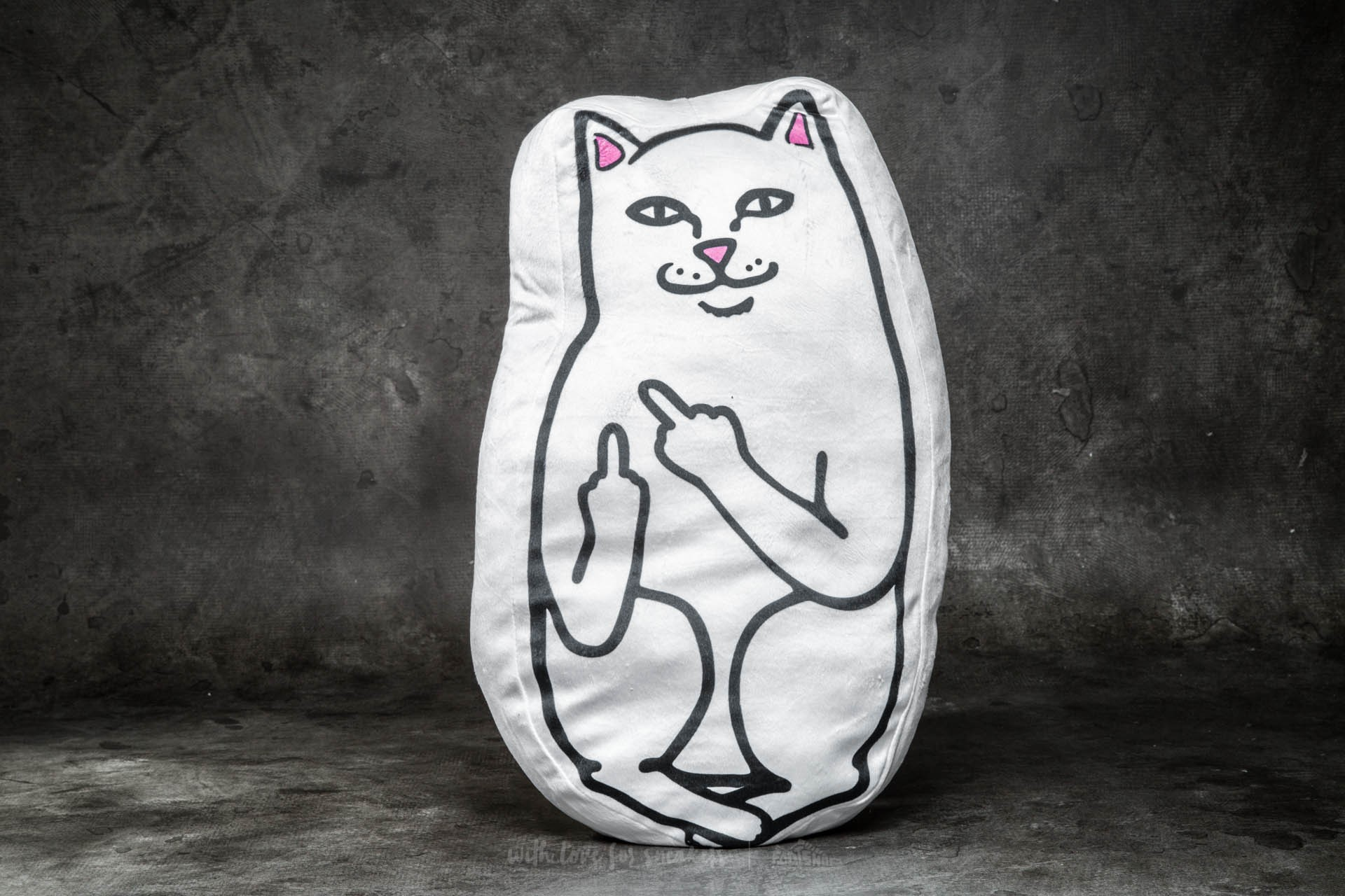 RIPNDIP Lord Nermal Pillow White - 10954