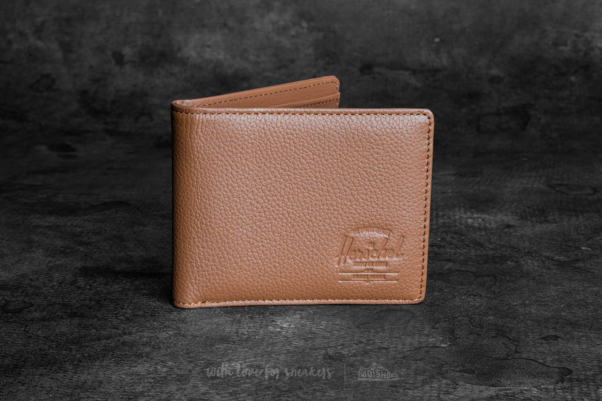 Herschel Supply Co. Hank Leather Wallet Tan Pebbled Leather - 11188