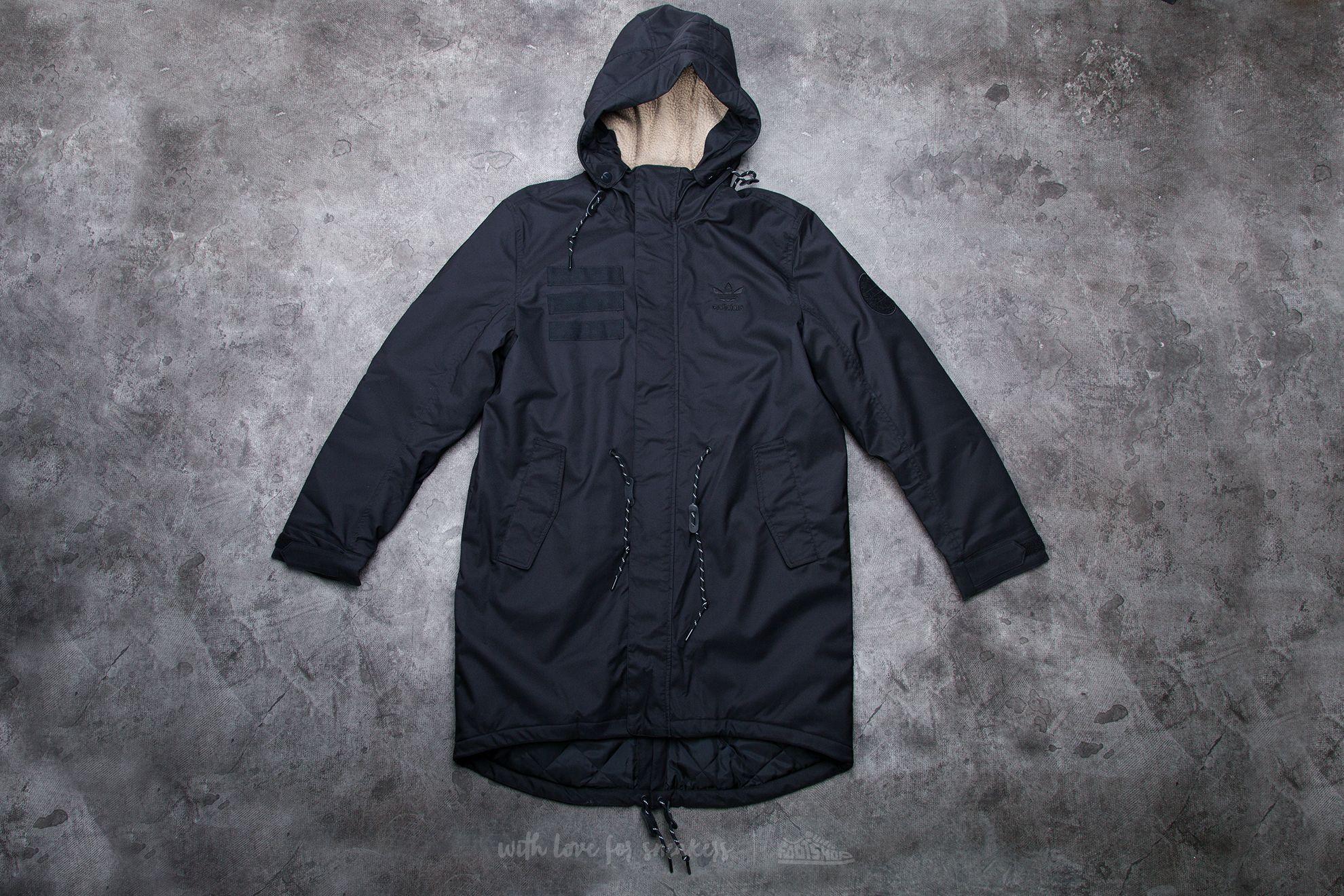 adidas Quilt Fur Parka Black - 11581