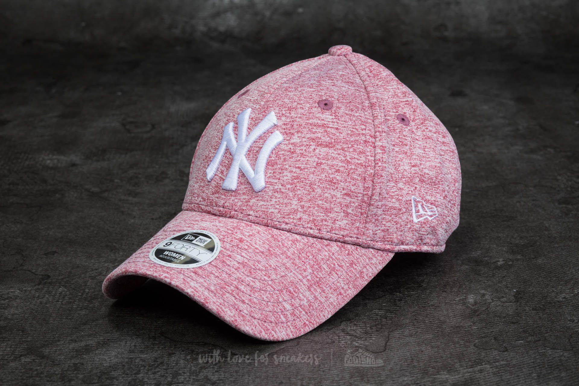 New Era 9Forty Women Adjustable Jersey Fleck New York Yankees Cap Maroon - 11742