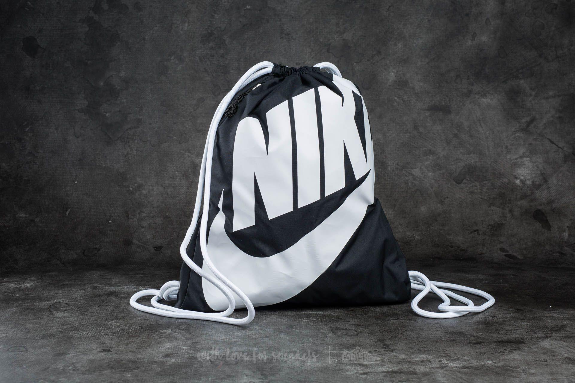 Nike Sportswear Heritage Gymsack Black/ White/ White - 11835