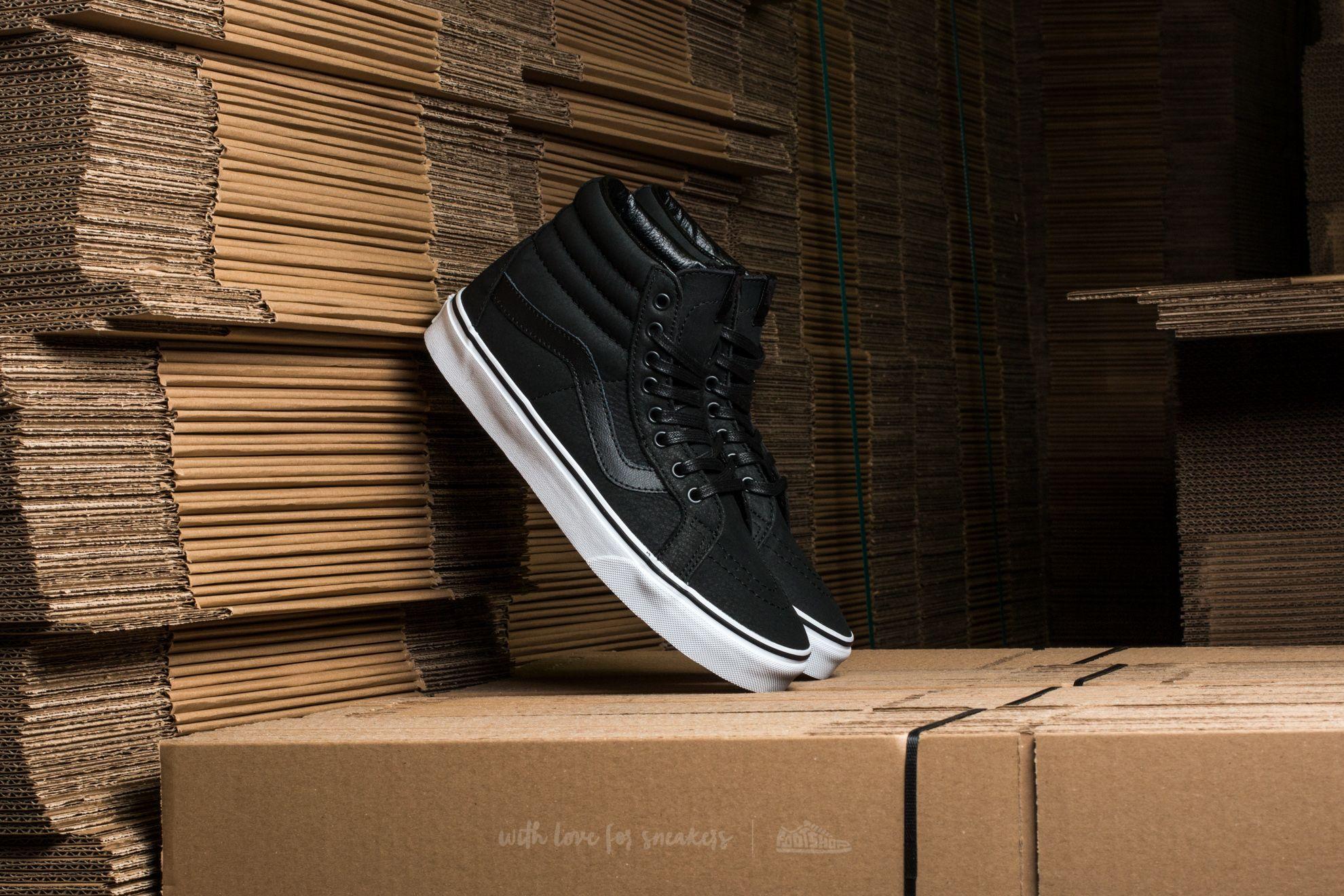 Vans Sk8-Hi Reissue (Premium Leather) Black/ True White - 12129