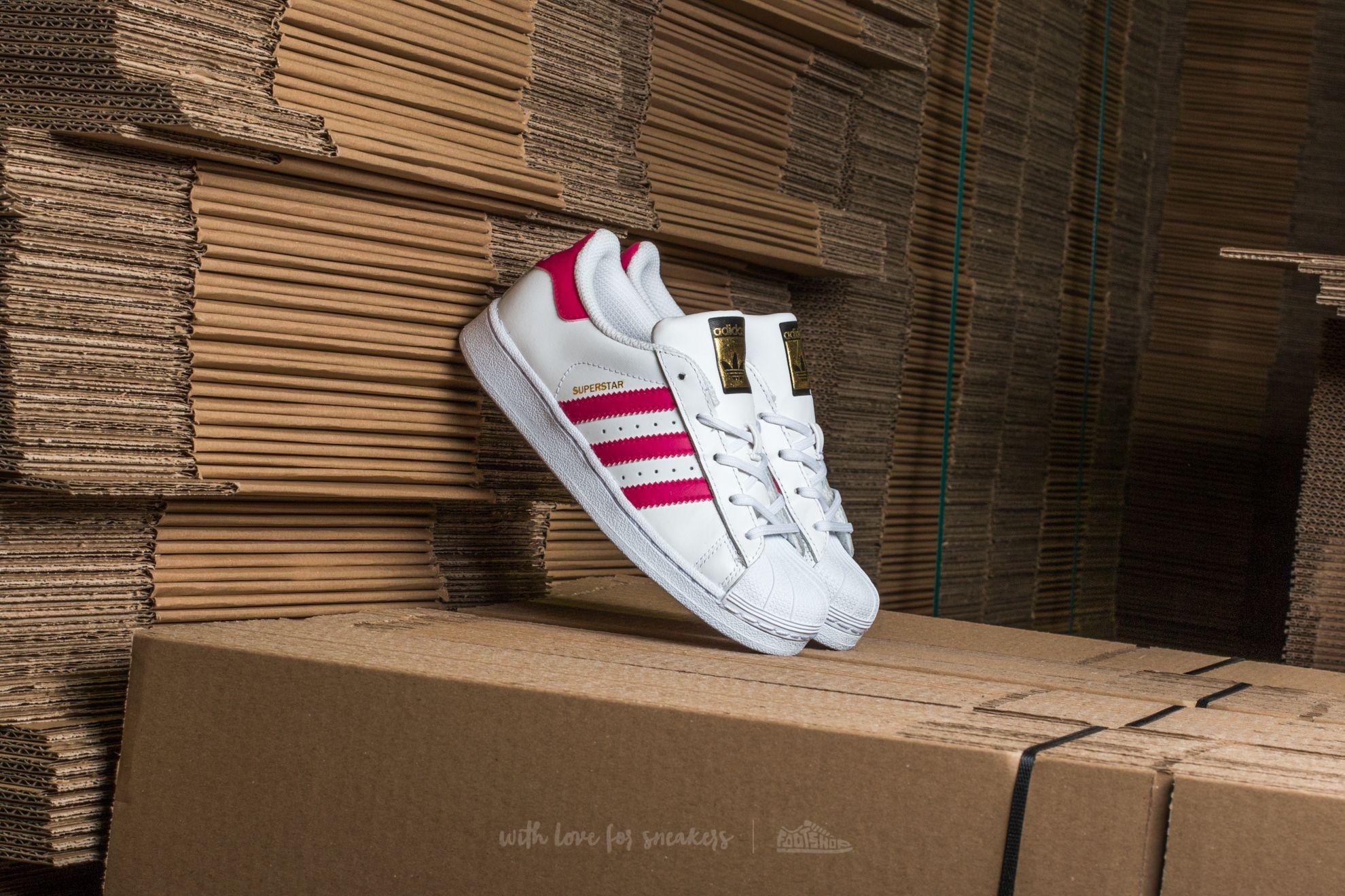 adidas Superstar Foundation C Ftw White/ Bold Pink/ Ftw White - 12164