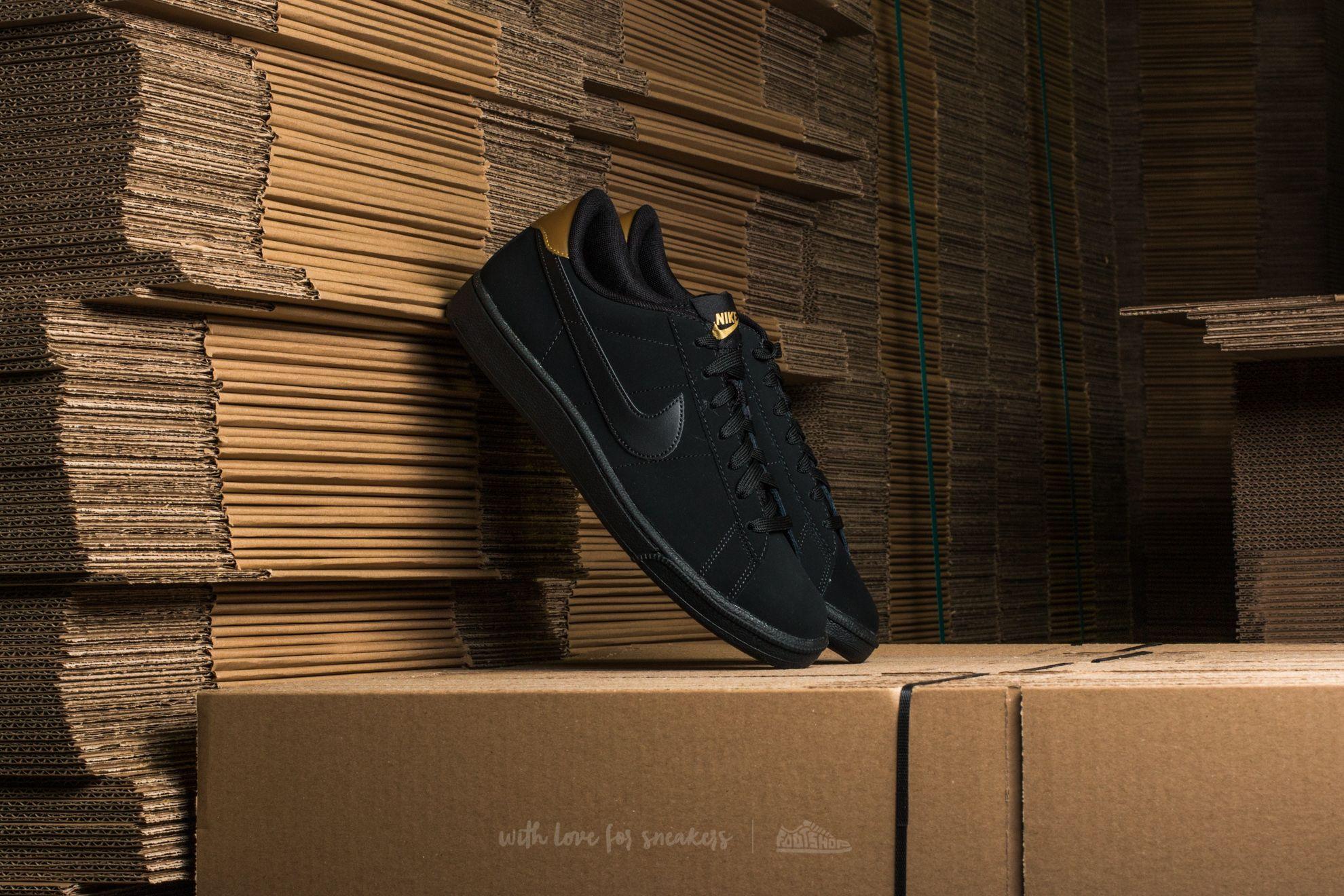 Nike Tennis Classic CS Black/ Black-Metallic Gold - 12167
