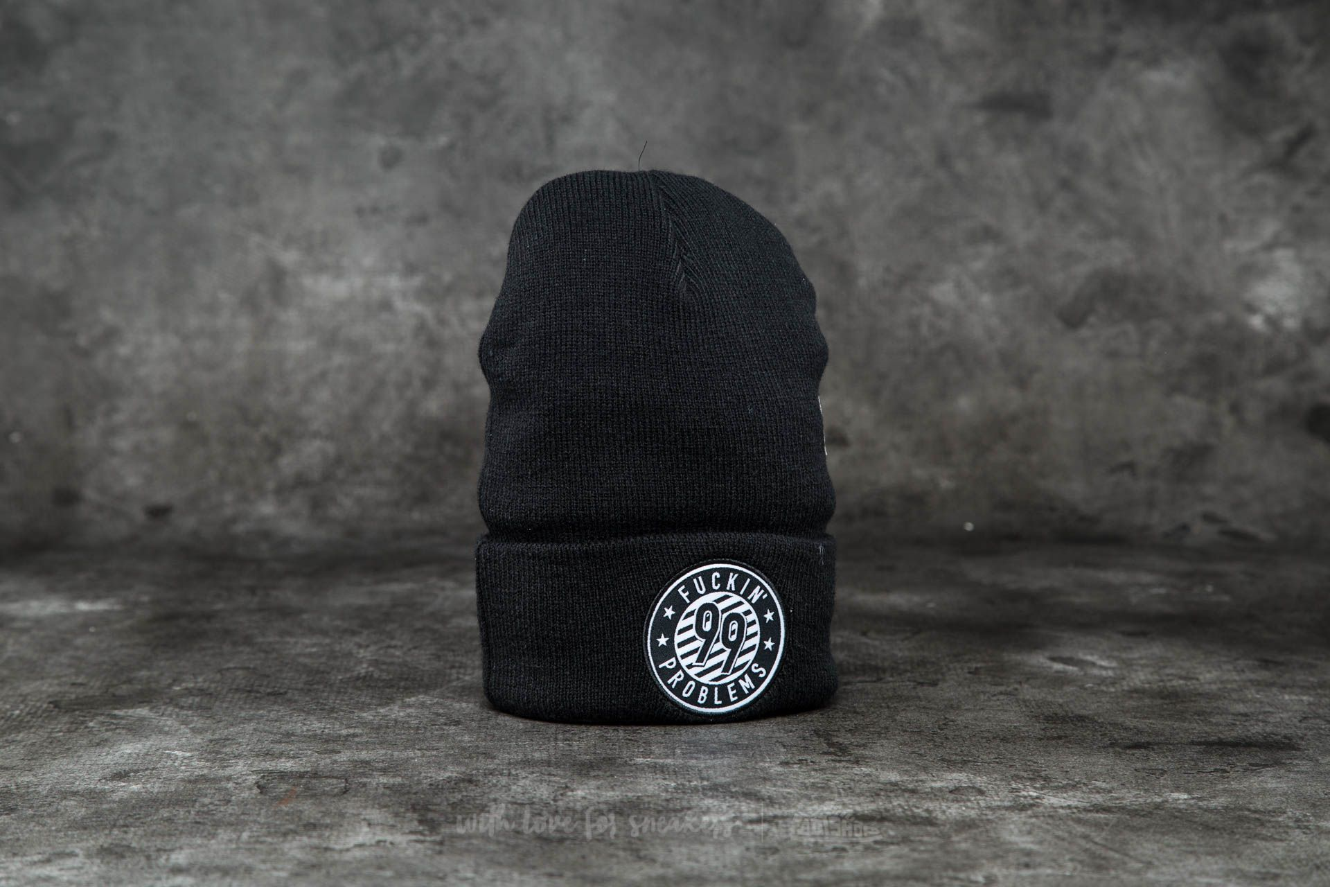 Cayler & Sons WL 99 FCKN Problems Old School Beanie Black/ White - 12218