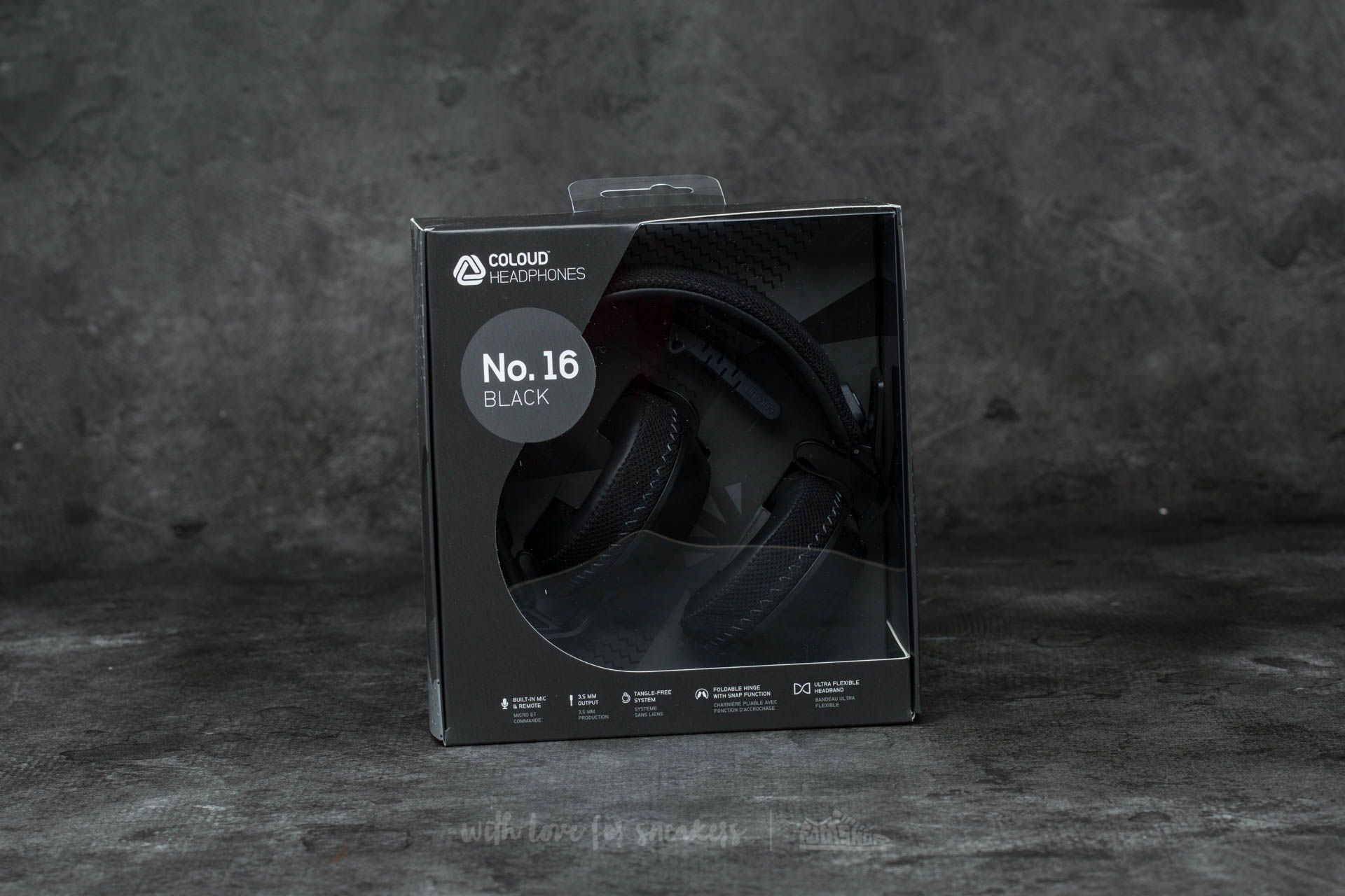 Coloud No. 16 Headphones Black-Grey - 12248