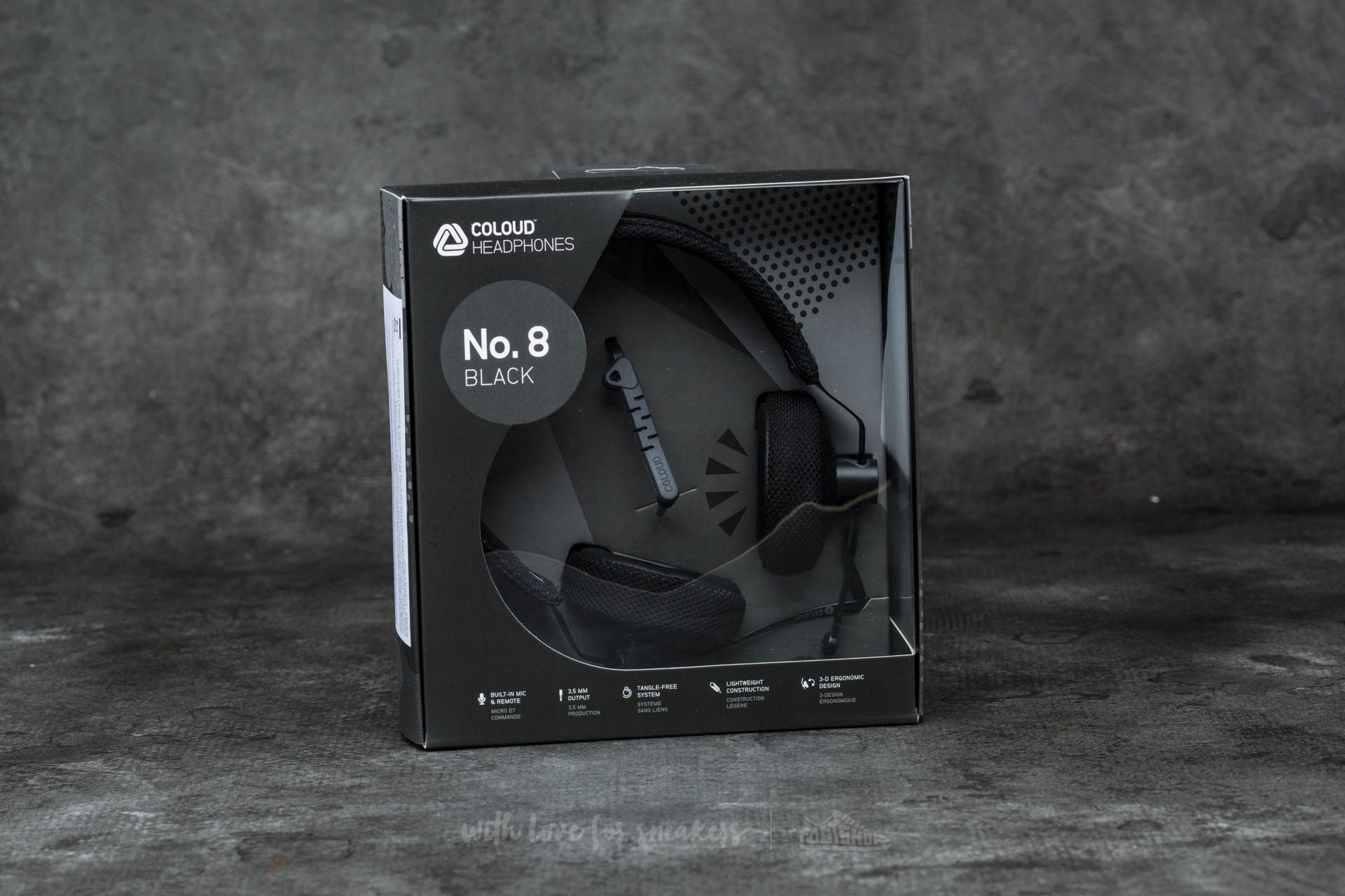 Coloud No. 8 Headphones Black-Grey - 12253